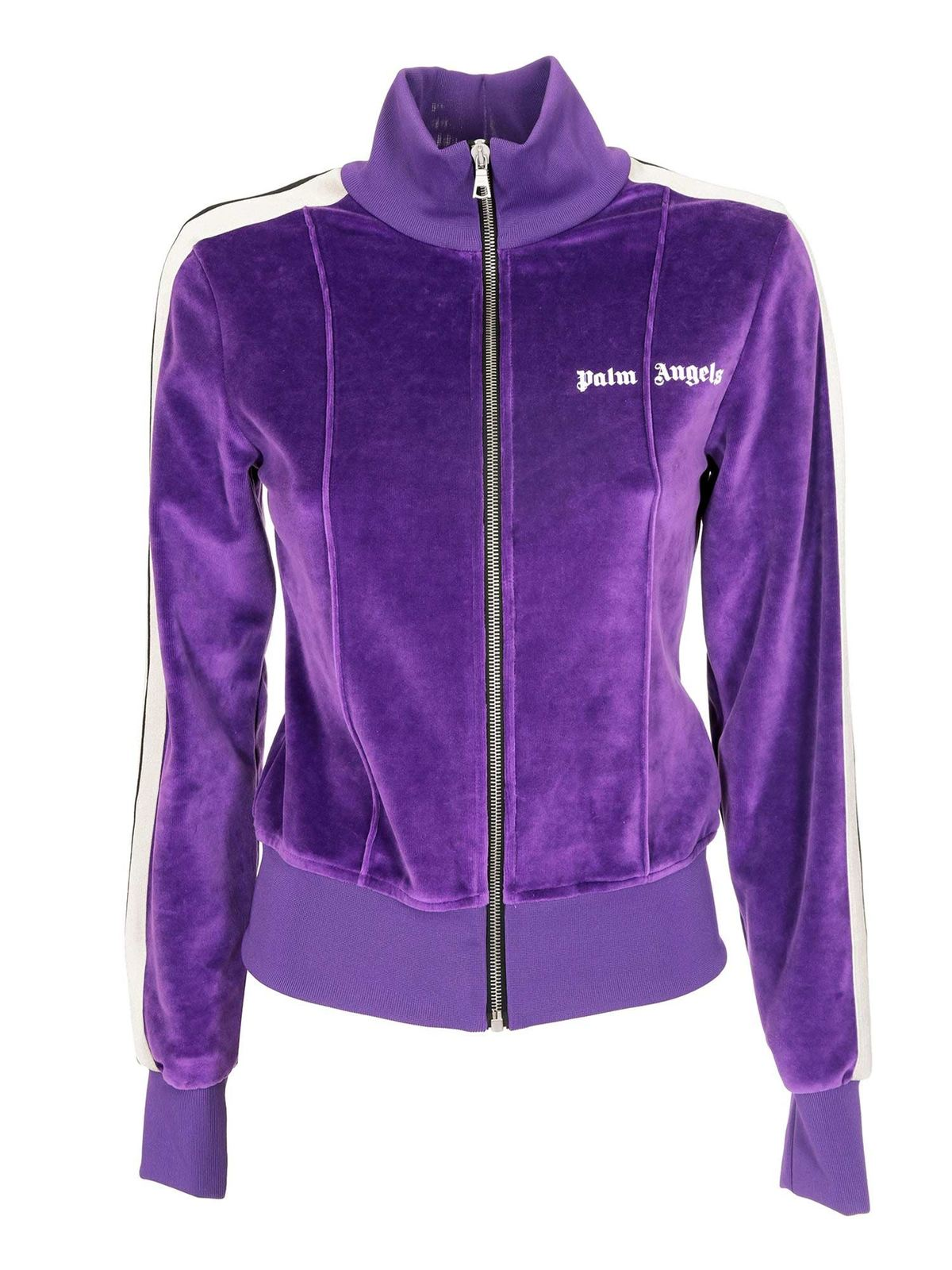 Palm Angels FITTED TRACK JACKET IN PURPLE