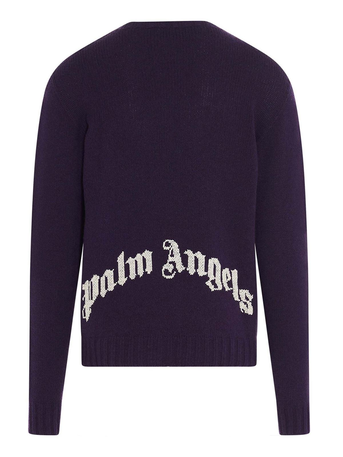 Palm Angels REC LOGO PULLOVER IN PURPLE