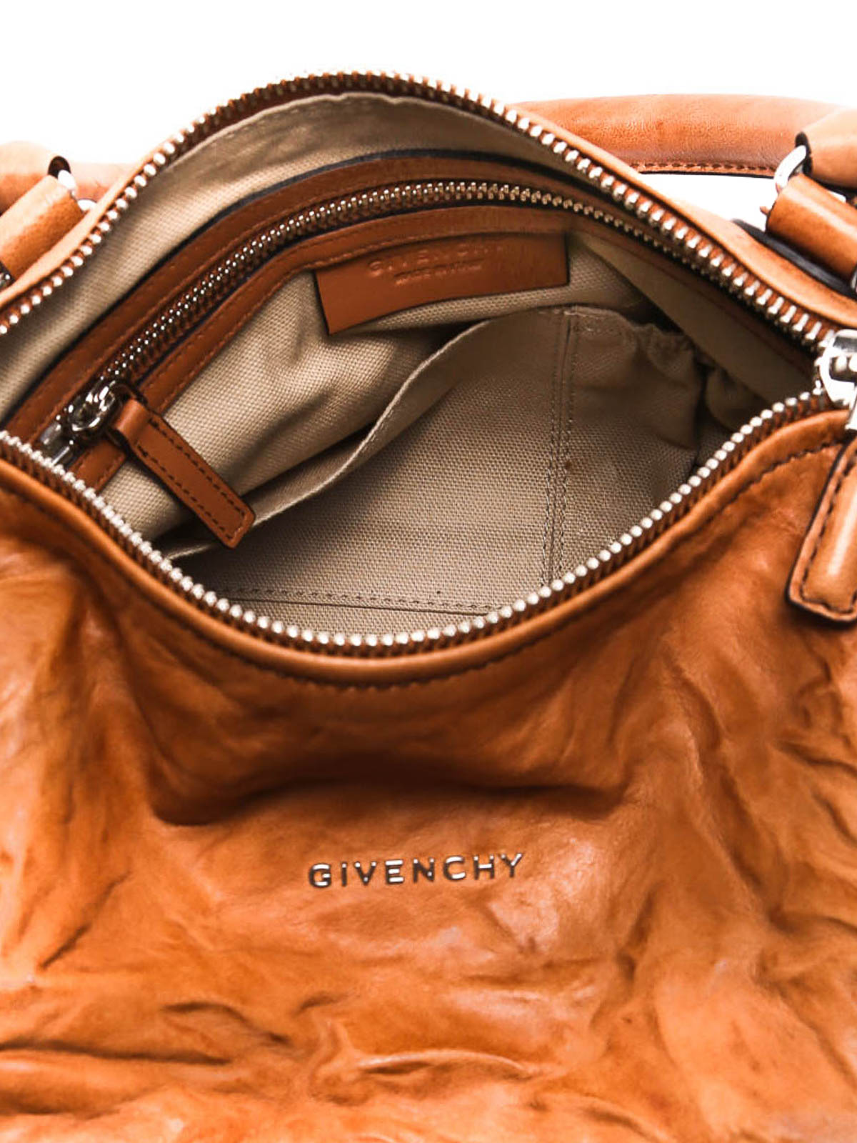 380a7bcd3755 Givenchy - Pandora small creased leather bag - shoulder bags ...