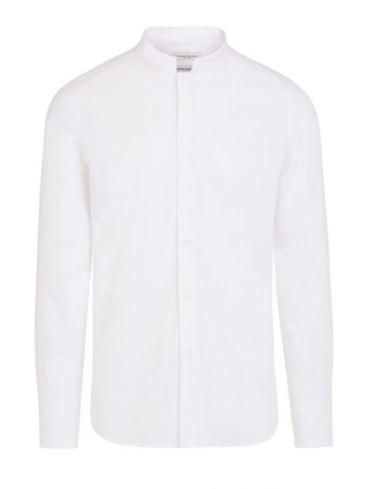Paolo Pecora Mandarin Collar Shirt In White