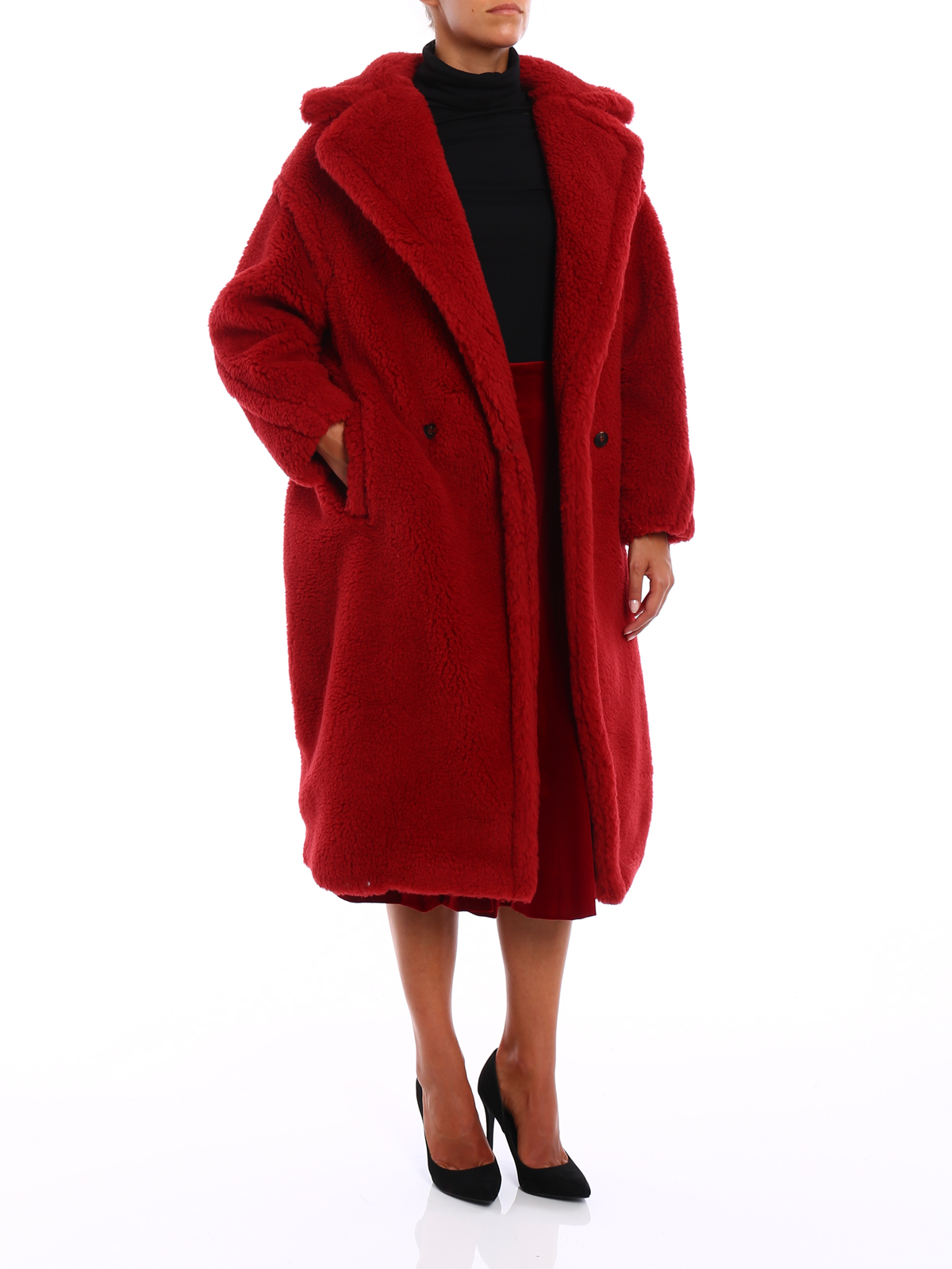Max Mara Pappino Camel And Silk Over Coat Long Coats