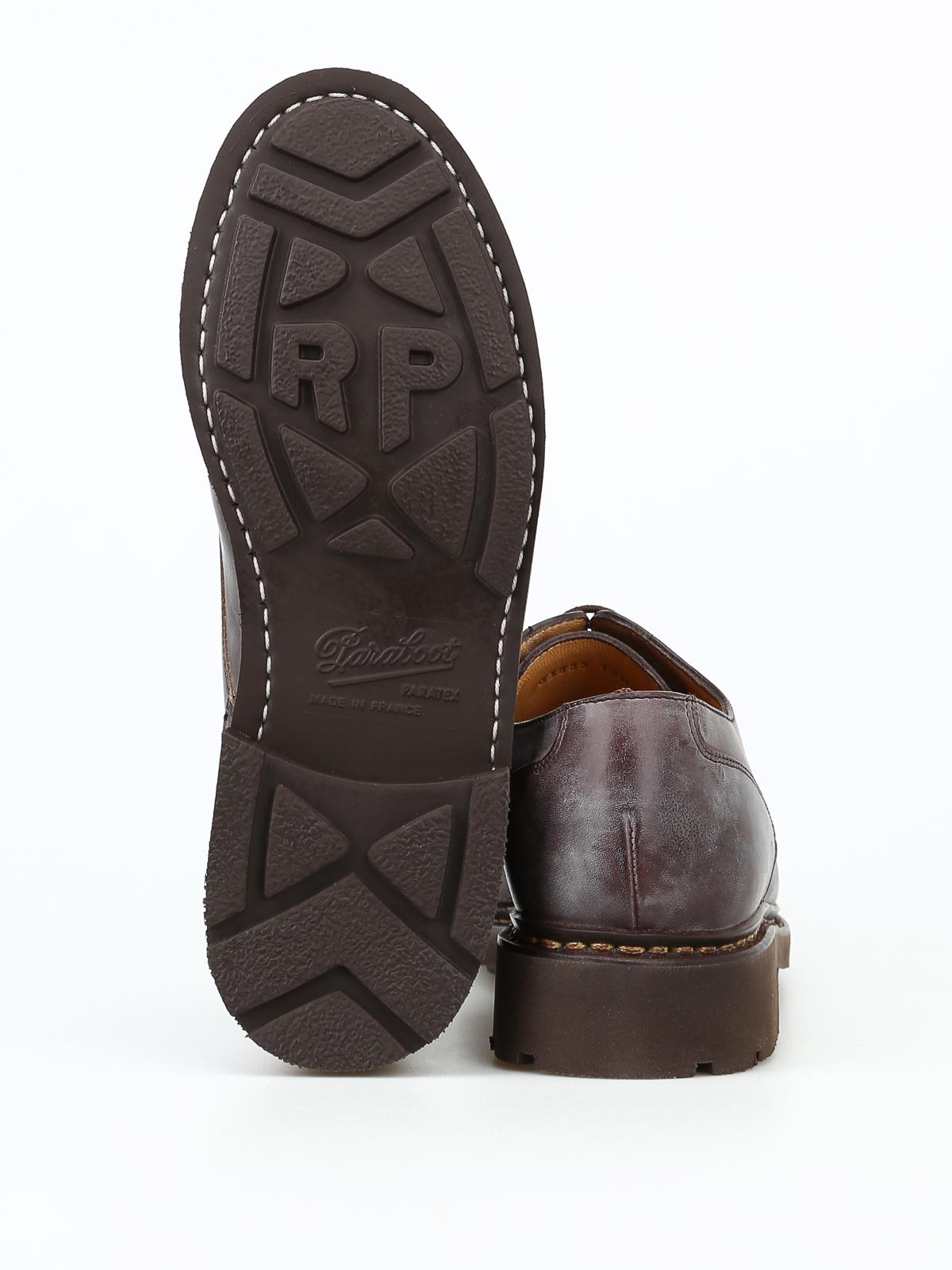 sports shoes cf21a b27f4 Paraboot - Allacciate Chambord in pelle vintage - scarpe ...