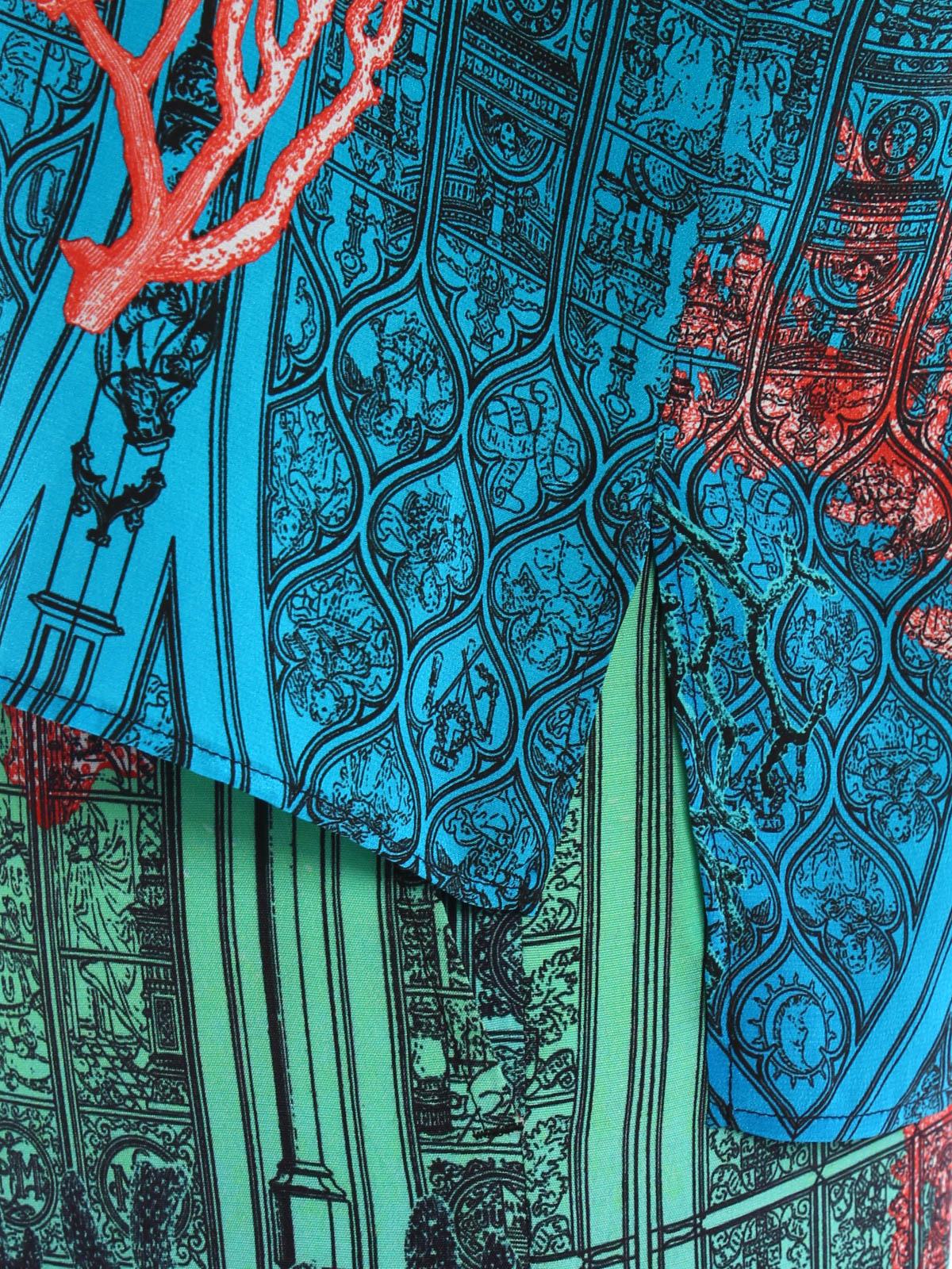 piccione piccione patterned print silk top トップス タンク