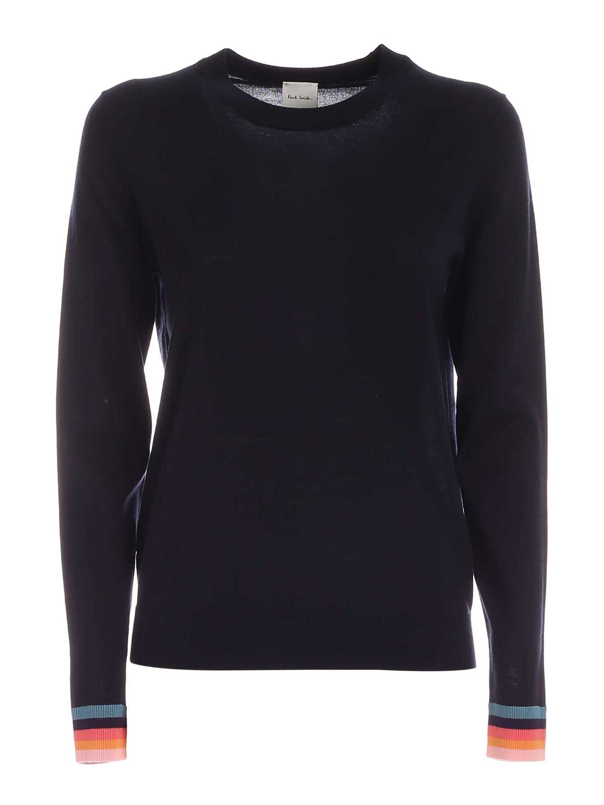 Paul Smith MULTICOLOR EDGES PULLOVER IN DARK BLUE