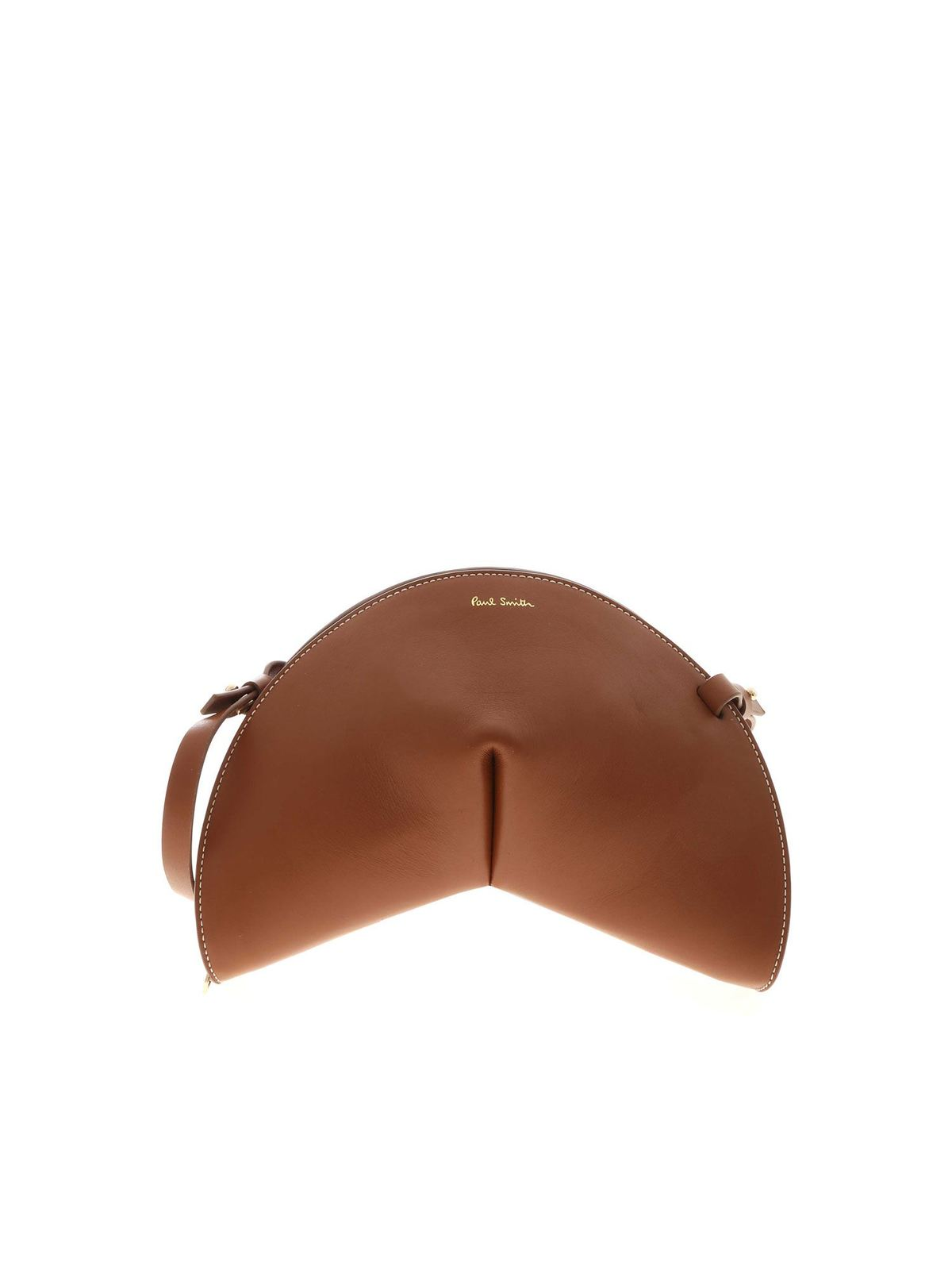 Paul Smith HALF MOON SHOULDER BAG IN BROWN
