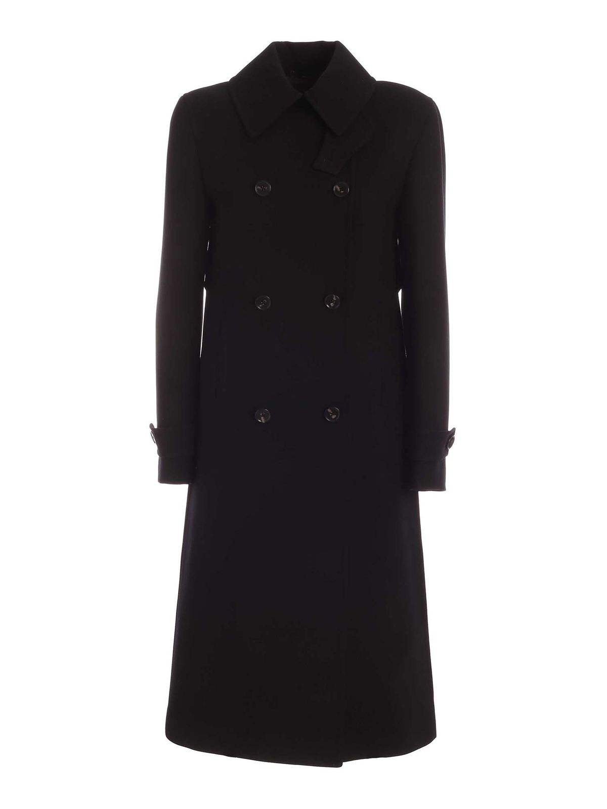 Paul Smith DOUBLE-BREASTED COAT IN BLACK