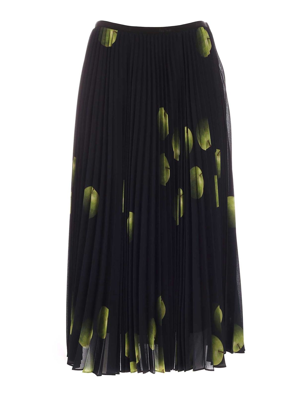 Paul Smith APPLE PRINT LONG SKIRT IN DARK BLUE