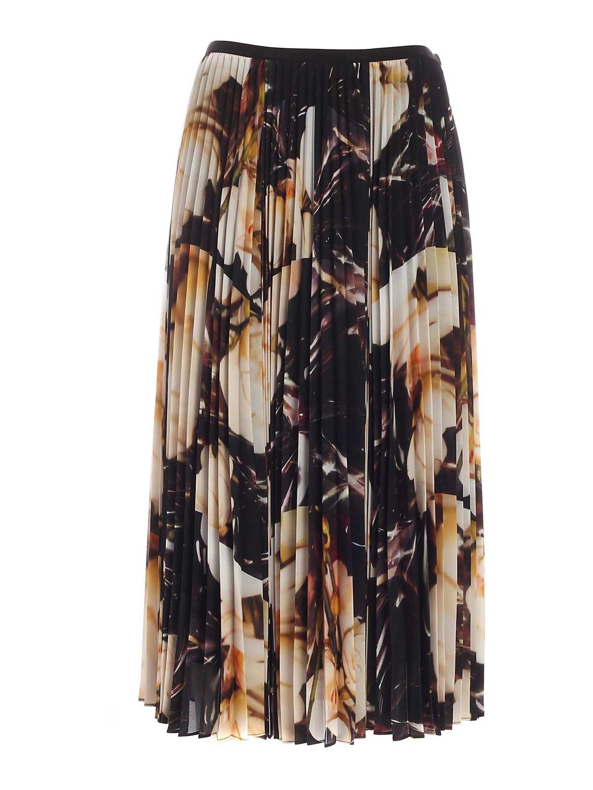 Paul Smith ORCHID PRINT LONG SKIRT IN BLACK