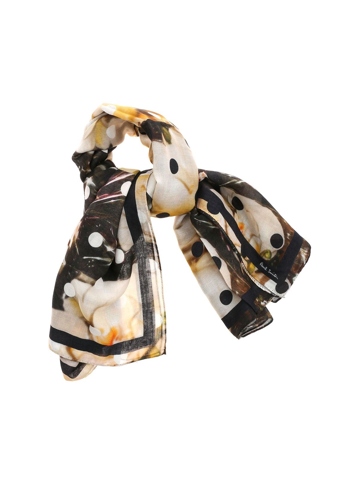 Paul Smith POLKA ORCHID PRINT MULTICOLOR SCARF