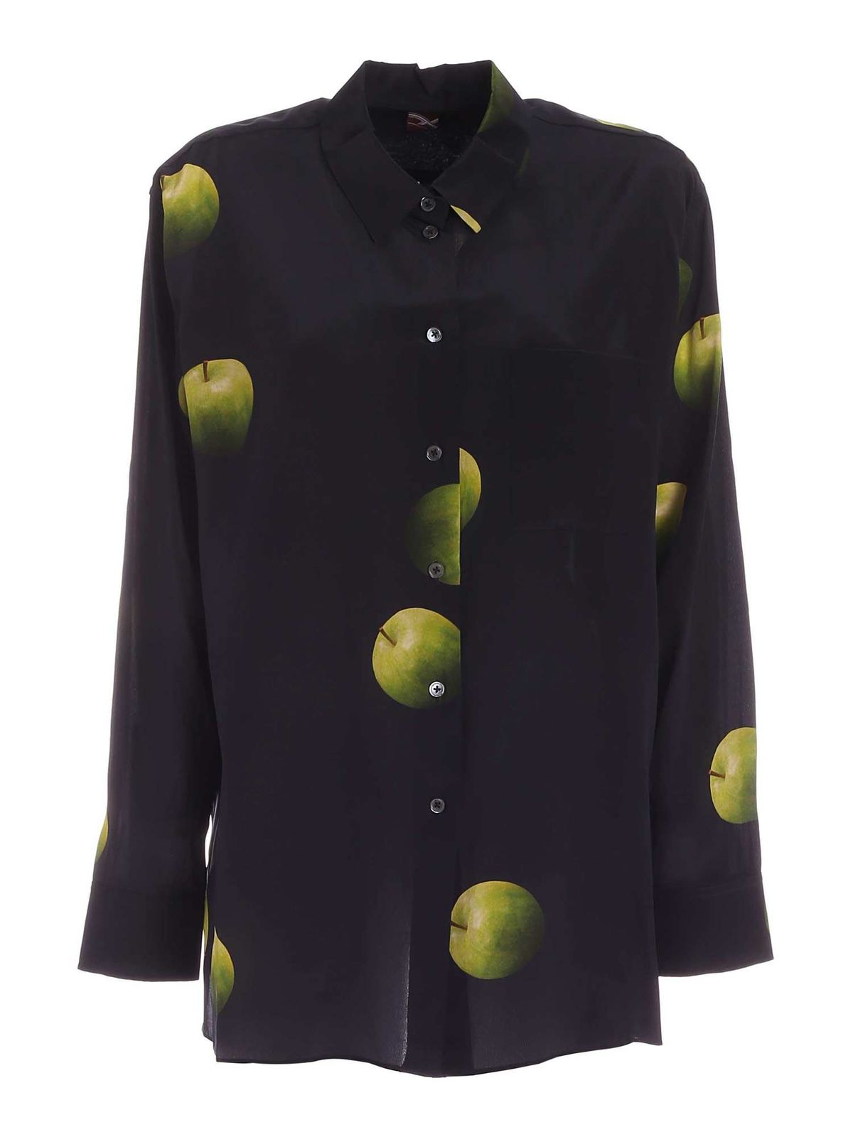 Paul Smith APPLE PRINT SHIRT IN BLACK