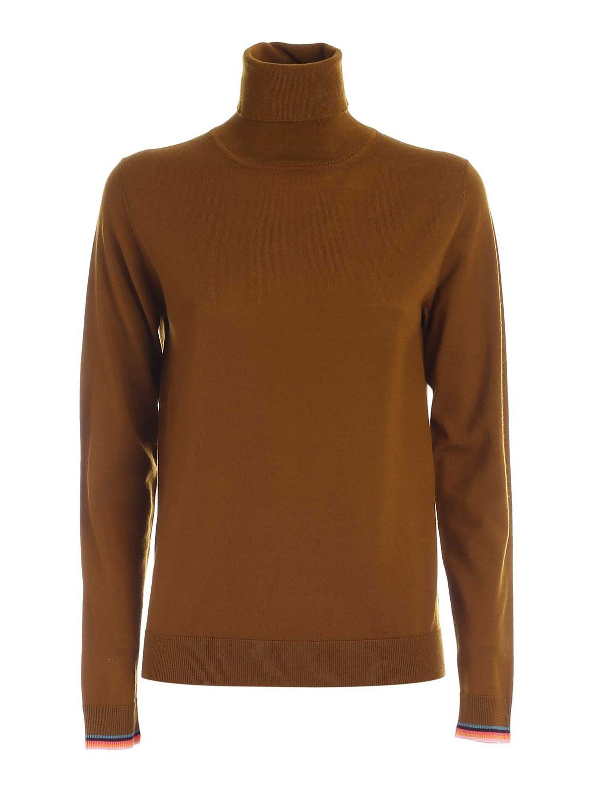 Paul Smith SWIRL DETAIL TURTLENECK IN MUSTARD COLOR