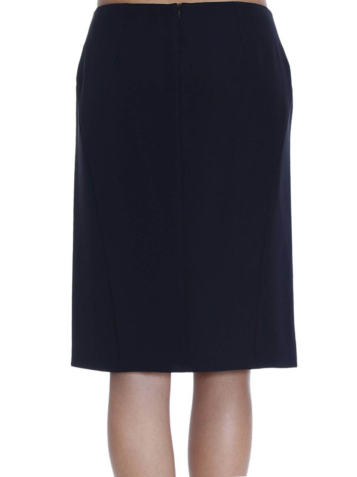 pencil skirt in cady by armani collezioni knee length