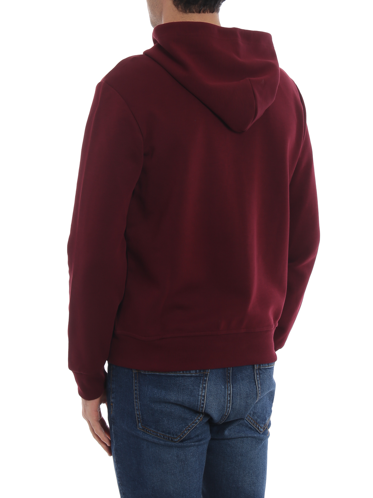 Polo Ralph Lauren Performance Burgundy Zip Up Hoodie Sweatshirts