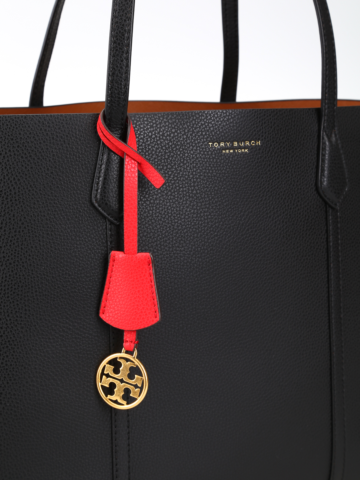 616541de5 Tory Burch - Perry Triple Compartment black leather bag - totes bags ...