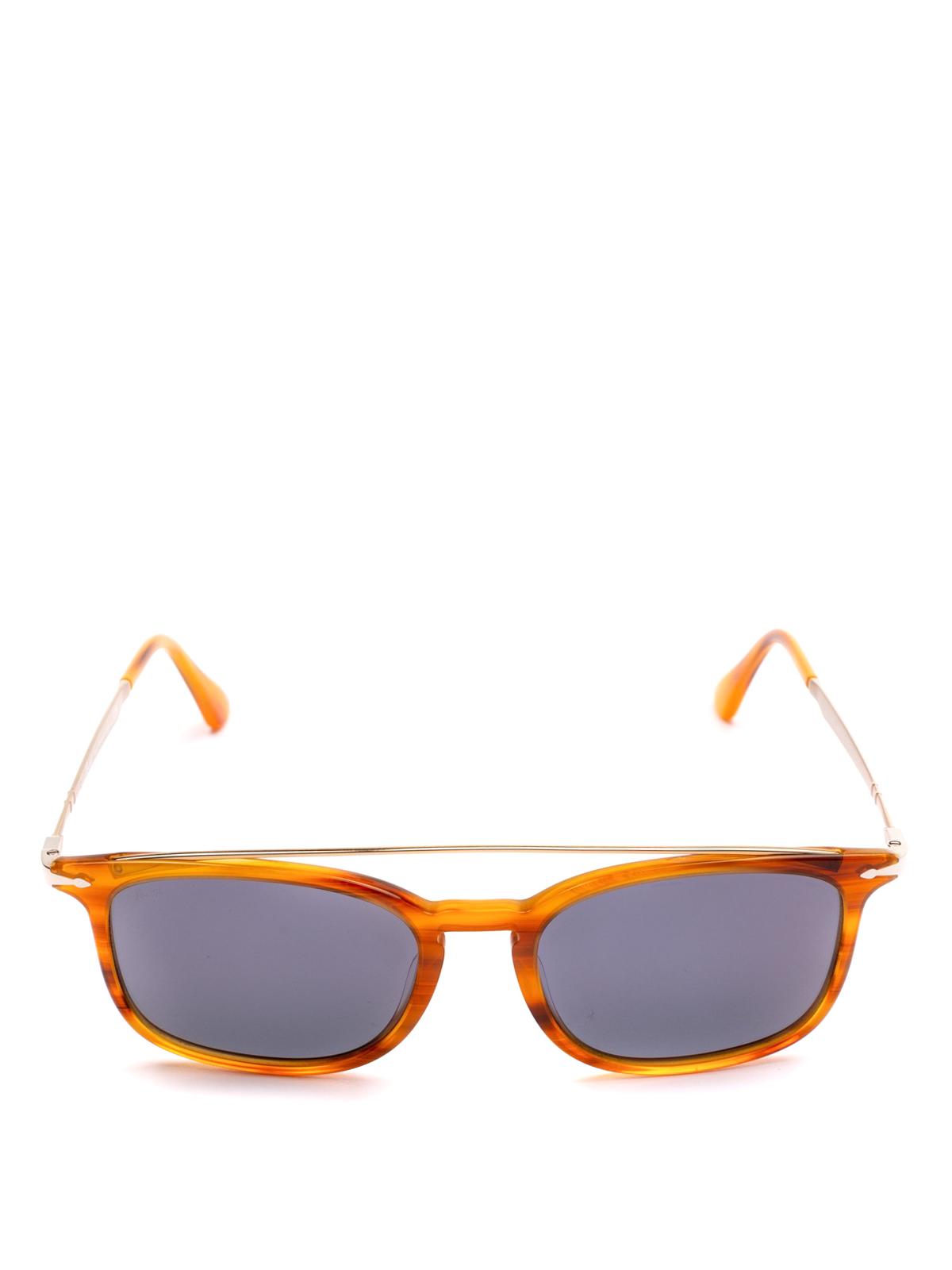 551f547f97 PERSOL  sunglasses online - Metal double bridge tortoise squared glasses