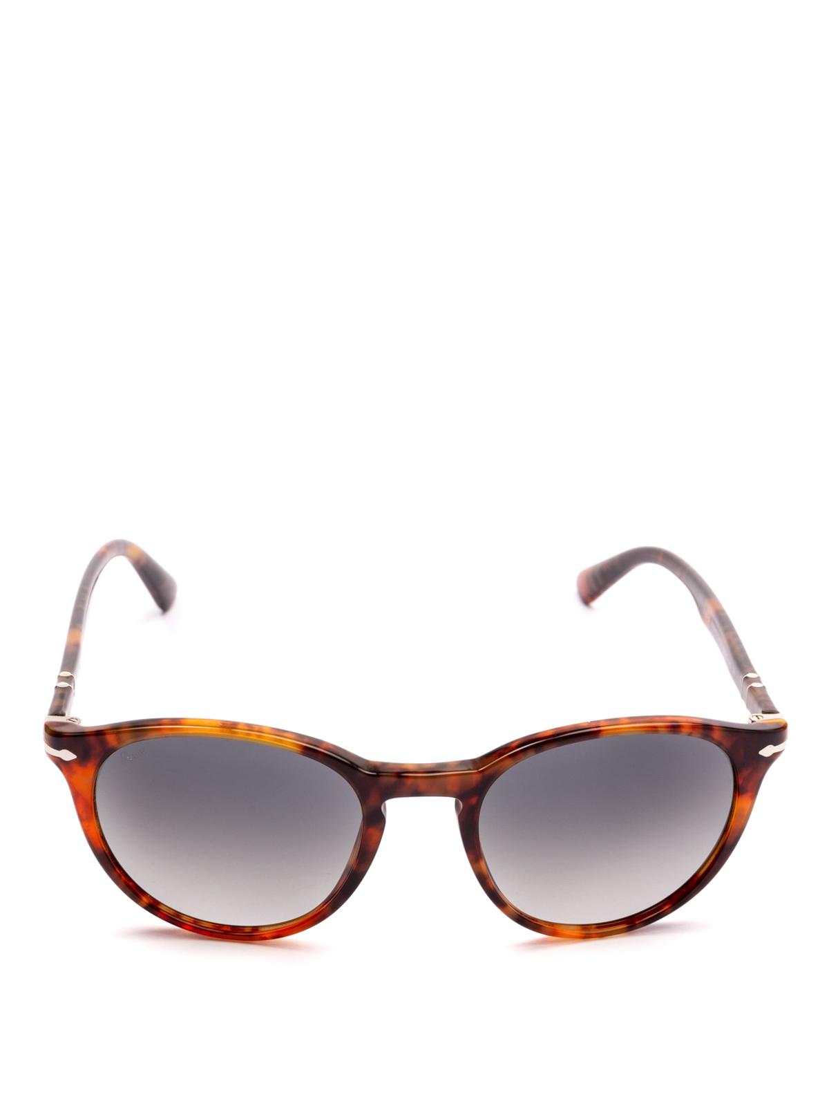 06e912ab46 PERSOL  sunglasses online - Tortoise frame oval dark lens sunglasses