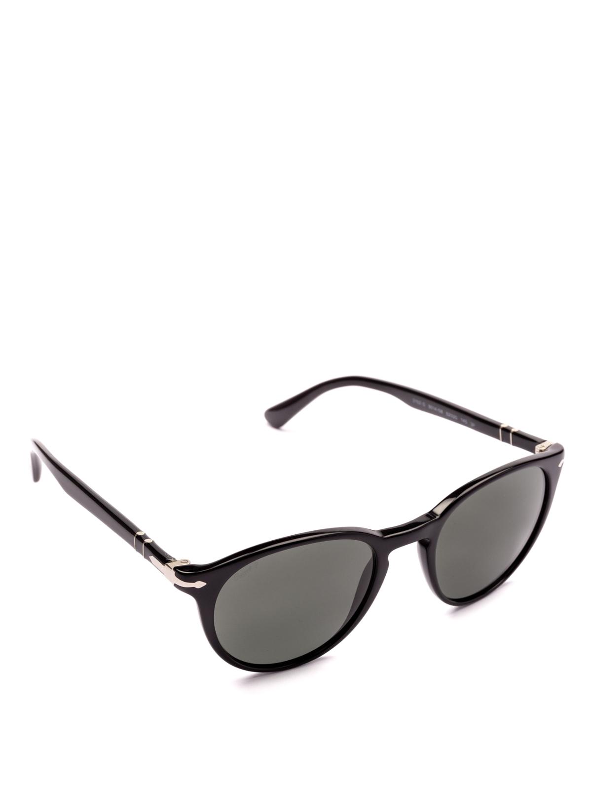 5d3a701e6b425 Persol - Black frame oval lens sunglasses - sunglasses - 3152S 9014 58