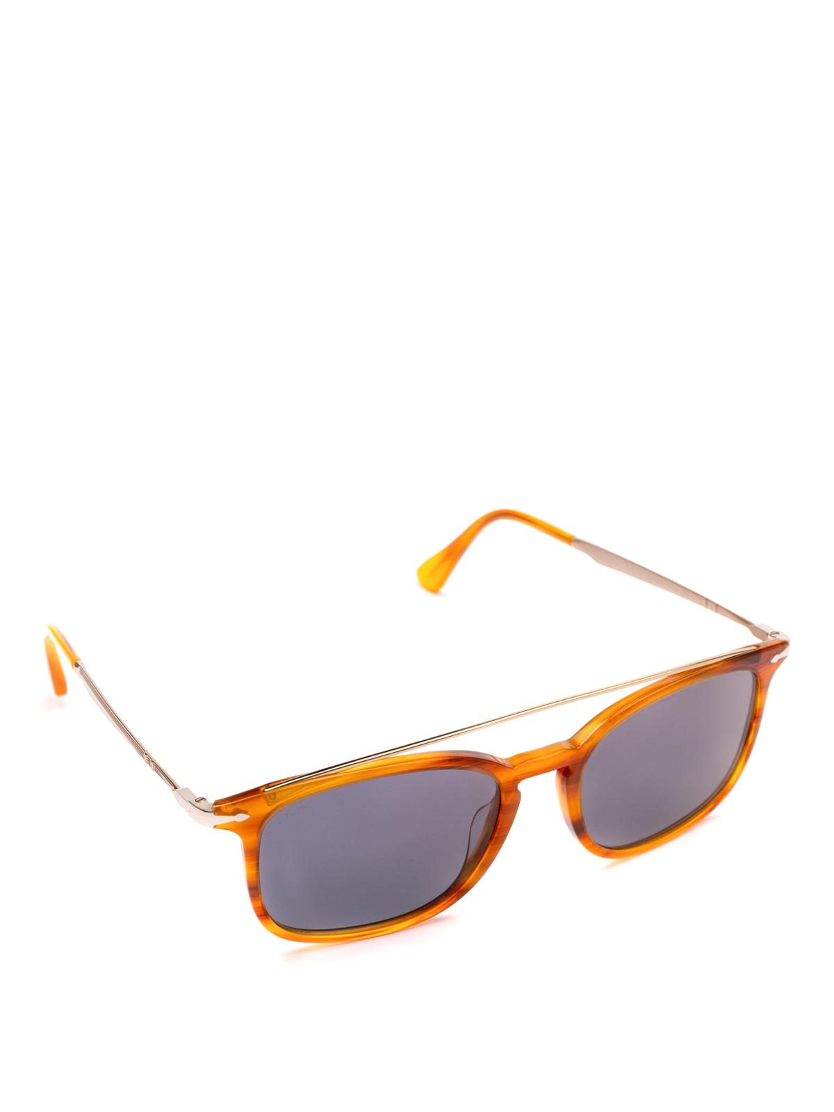 8d15c65a2d Persol - Metal double bridge tortoise squared glasses - sunglasses ...