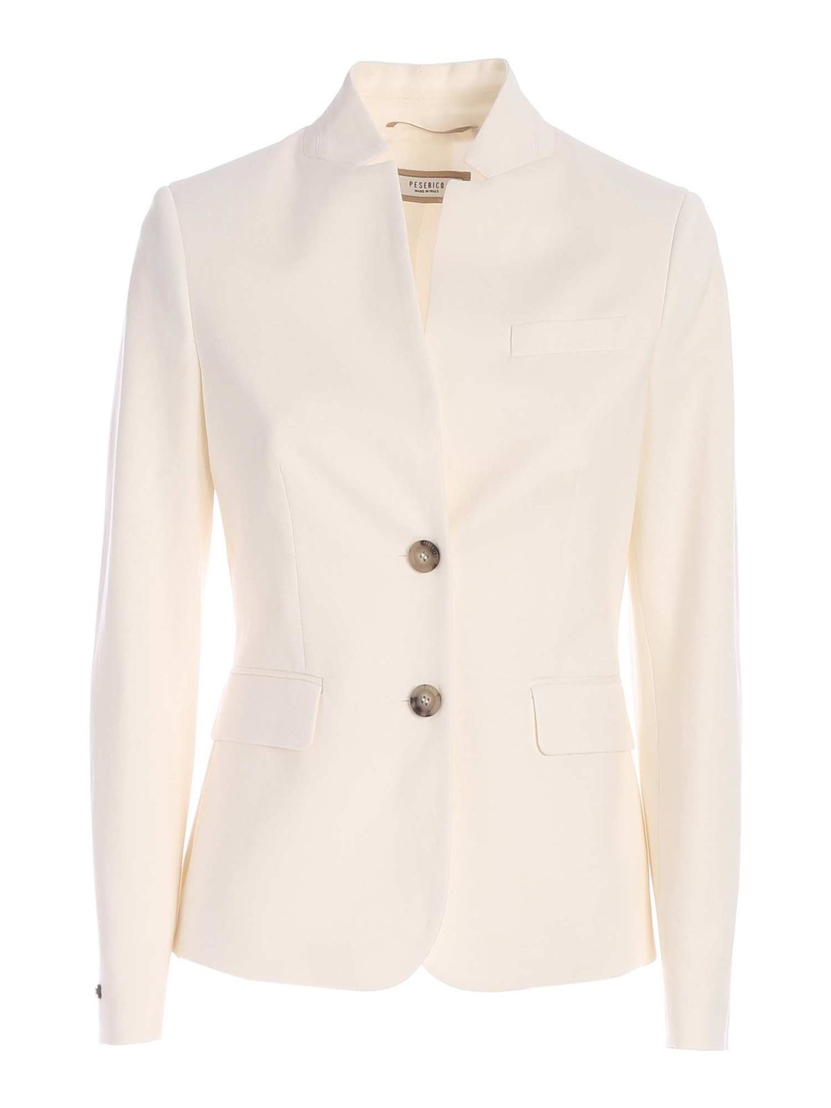 Peserico SINGLE-BREASTED BLAZER IN WHITE