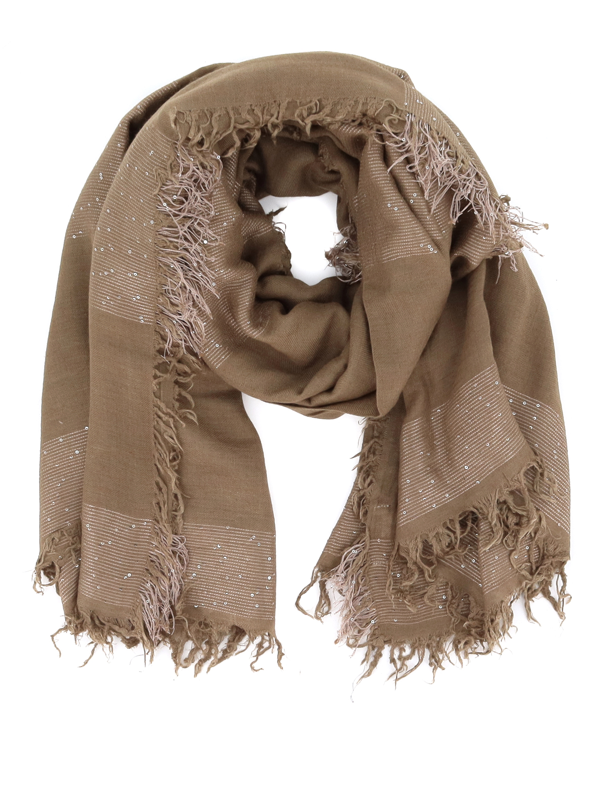 Peserico Scarves SEQUINED WOOL BLEND SCARF