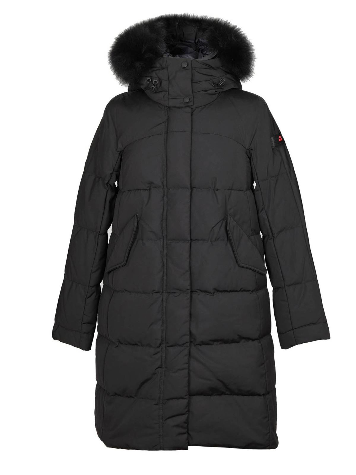 Peuterey QUILTED OLONG PARKA IN BLACK