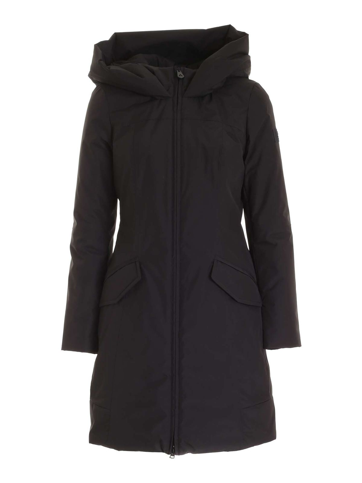 Peuterey ALLOS DR01 HOODED PARKA IN BLACK
