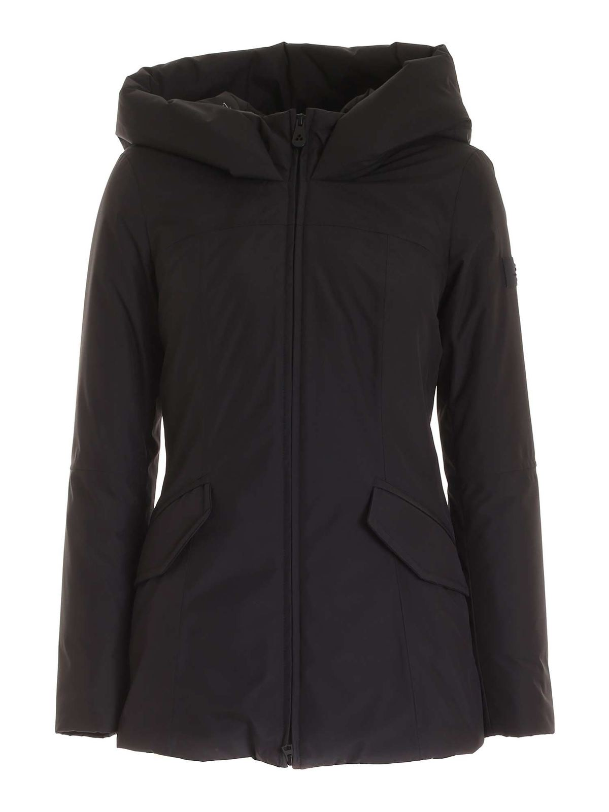 Peuterey AUBISQUE DR01 HOODED PARKA IN BLACK