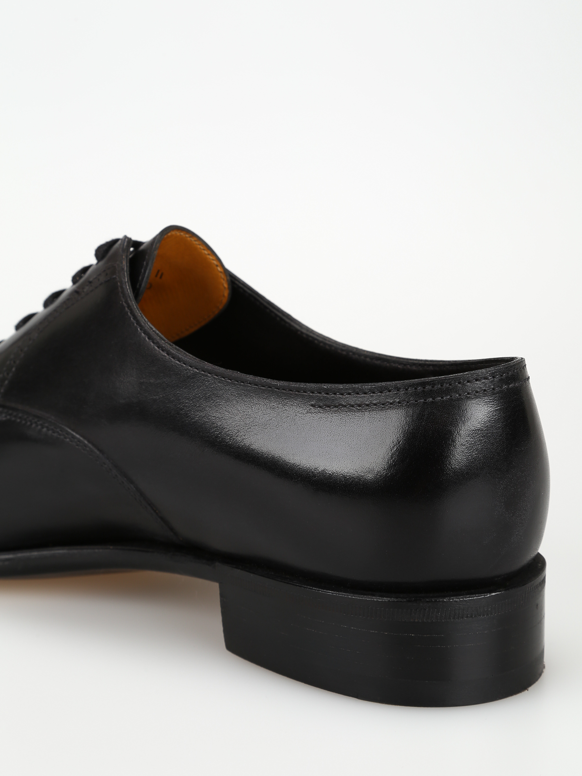 Classic shoes John LobbPhilip II black calf leather Oxford