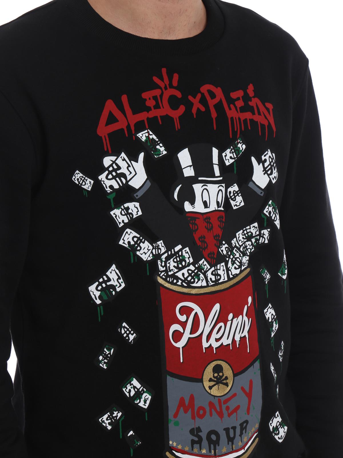 Philipp Plein - Alec s Money cotton sweatshirt - Sweatshirts ... 1ea2db83ea