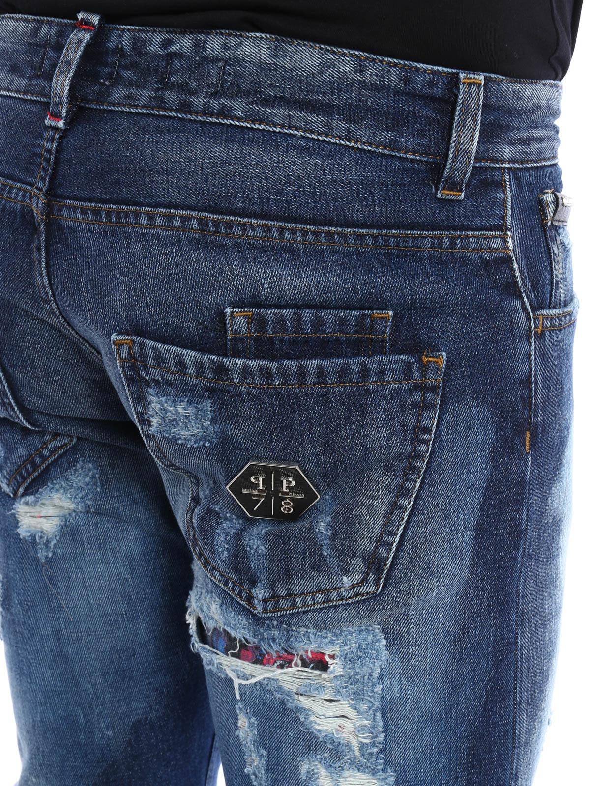 jeans all i need philipp plein jeans dritti a sigaretta ikrix. Black Bedroom Furniture Sets. Home Design Ideas