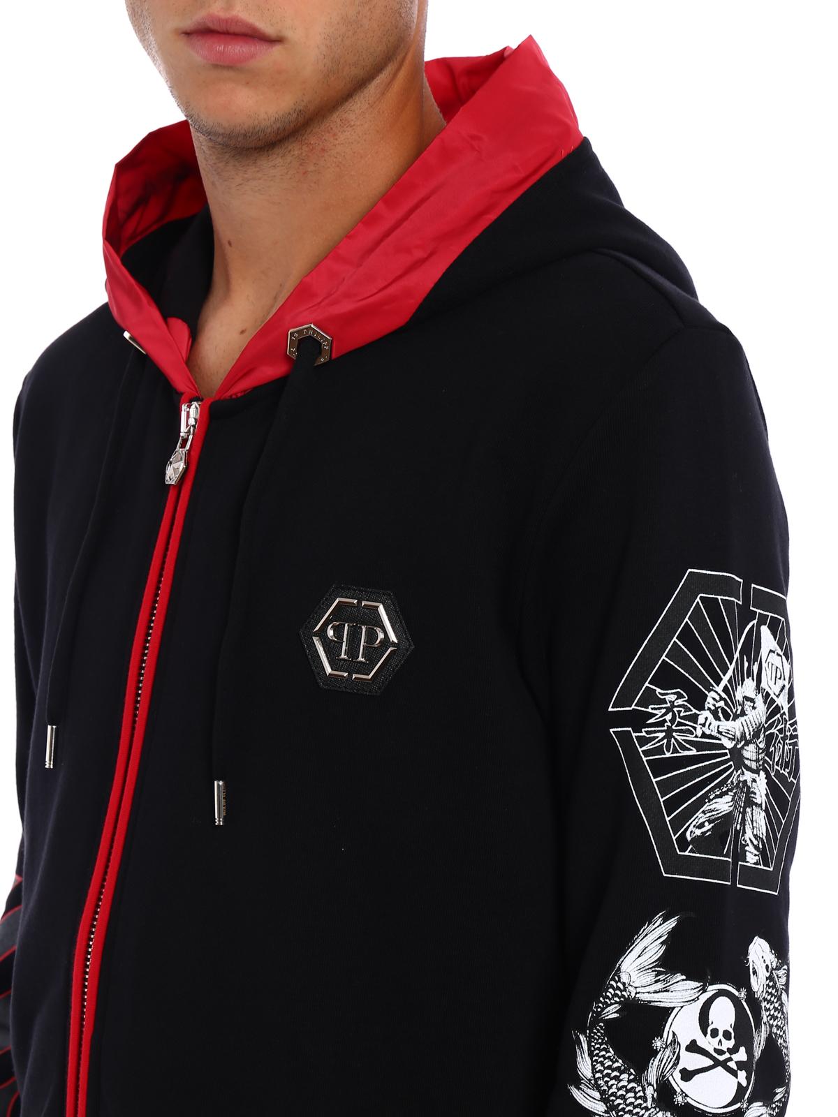 1b6df44eccbd8d Philipp Plein - Appoint printed hoodie - Sweatshirts & Sweaters ...