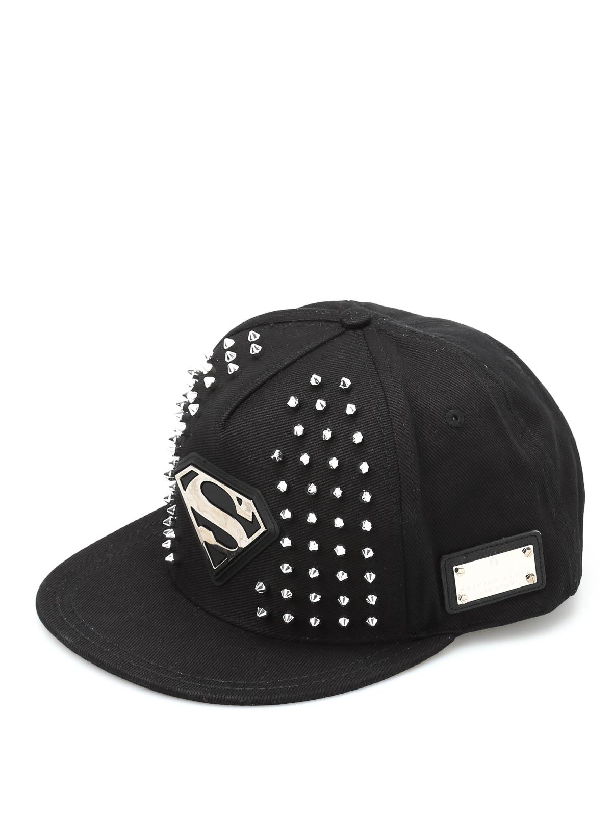 chapeaux et casquettes noir de philipp plein chapeaux. Black Bedroom Furniture Sets. Home Design Ideas