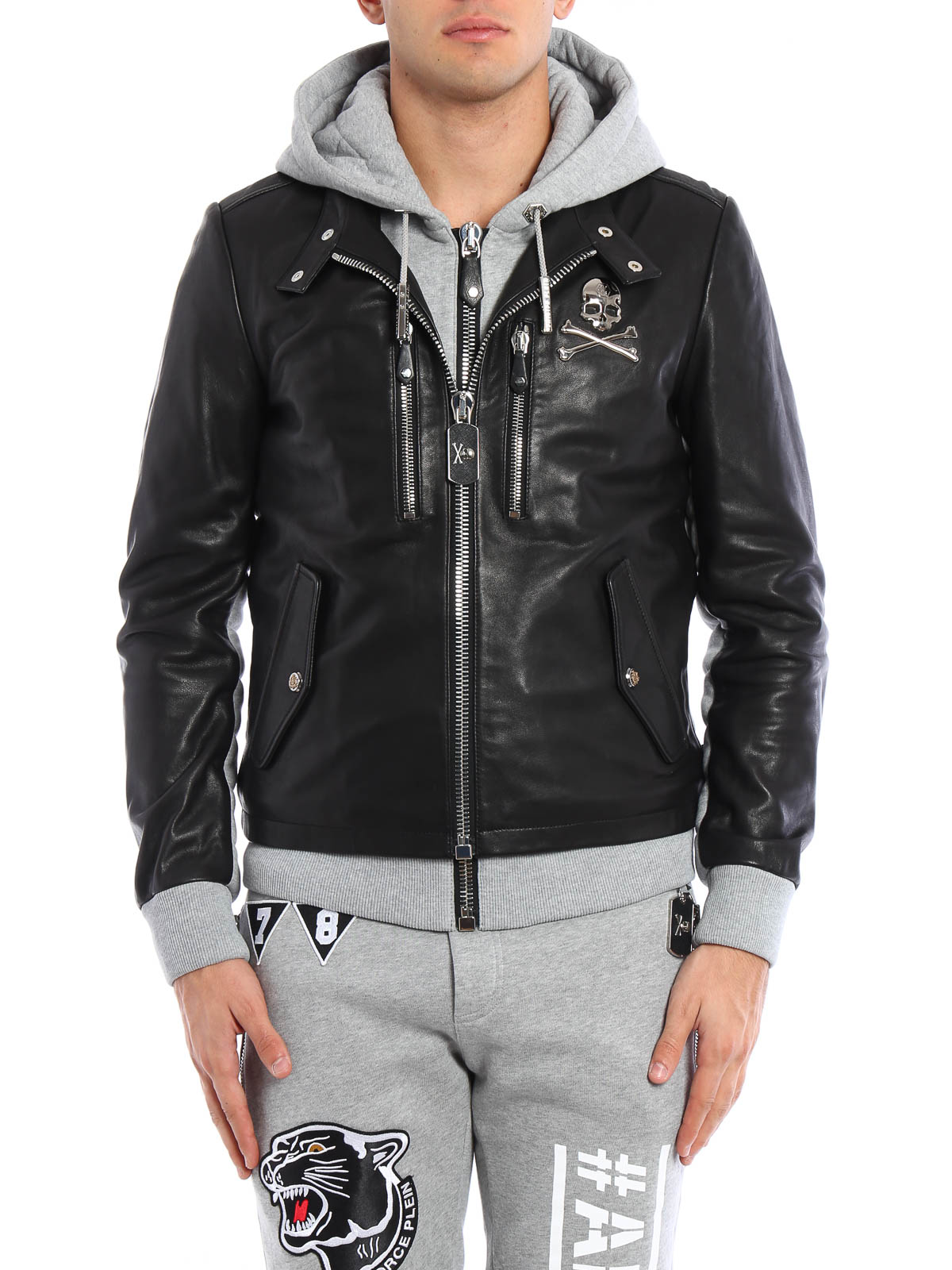 beaver creek jacket by philipp plein leather jacket ikrix. Black Bedroom Furniture Sets. Home Design Ideas