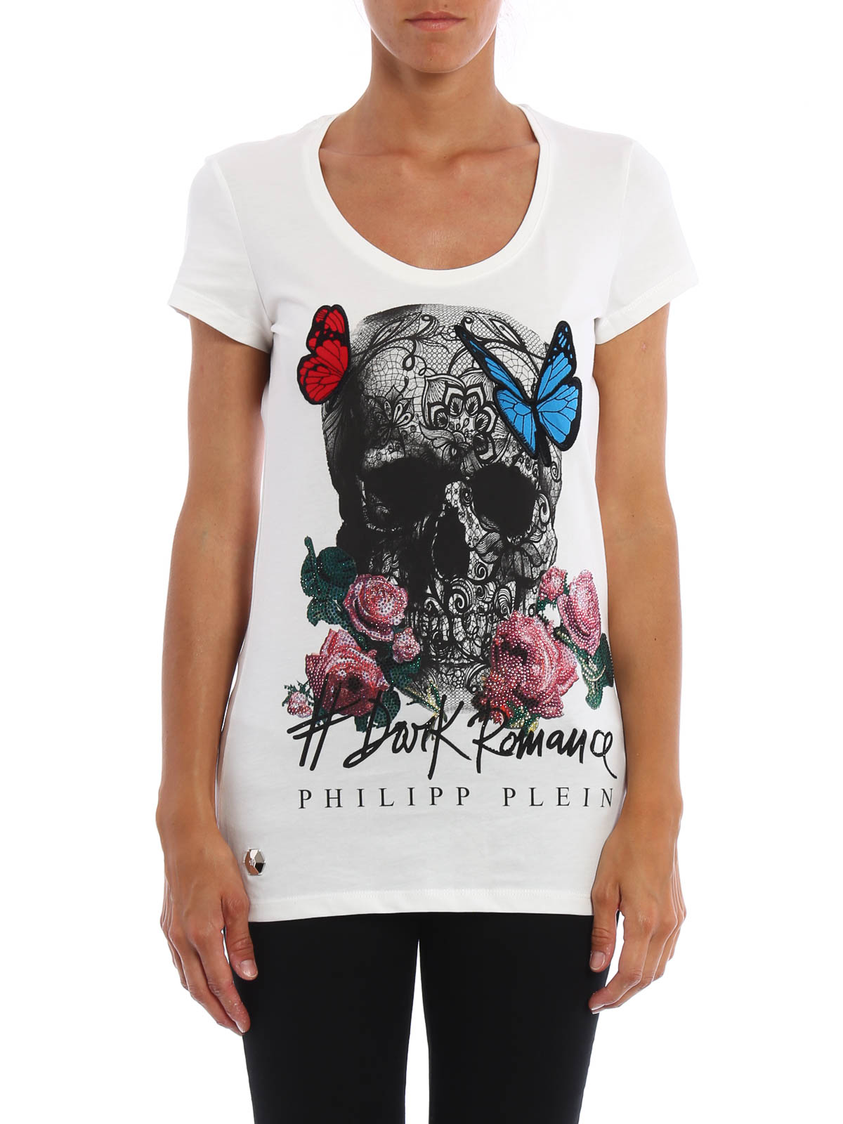 c1cd9c1c85982c Philipp Plein - T-Shirt Hidden Skull - Weiß - T-shirts - CW340929 01