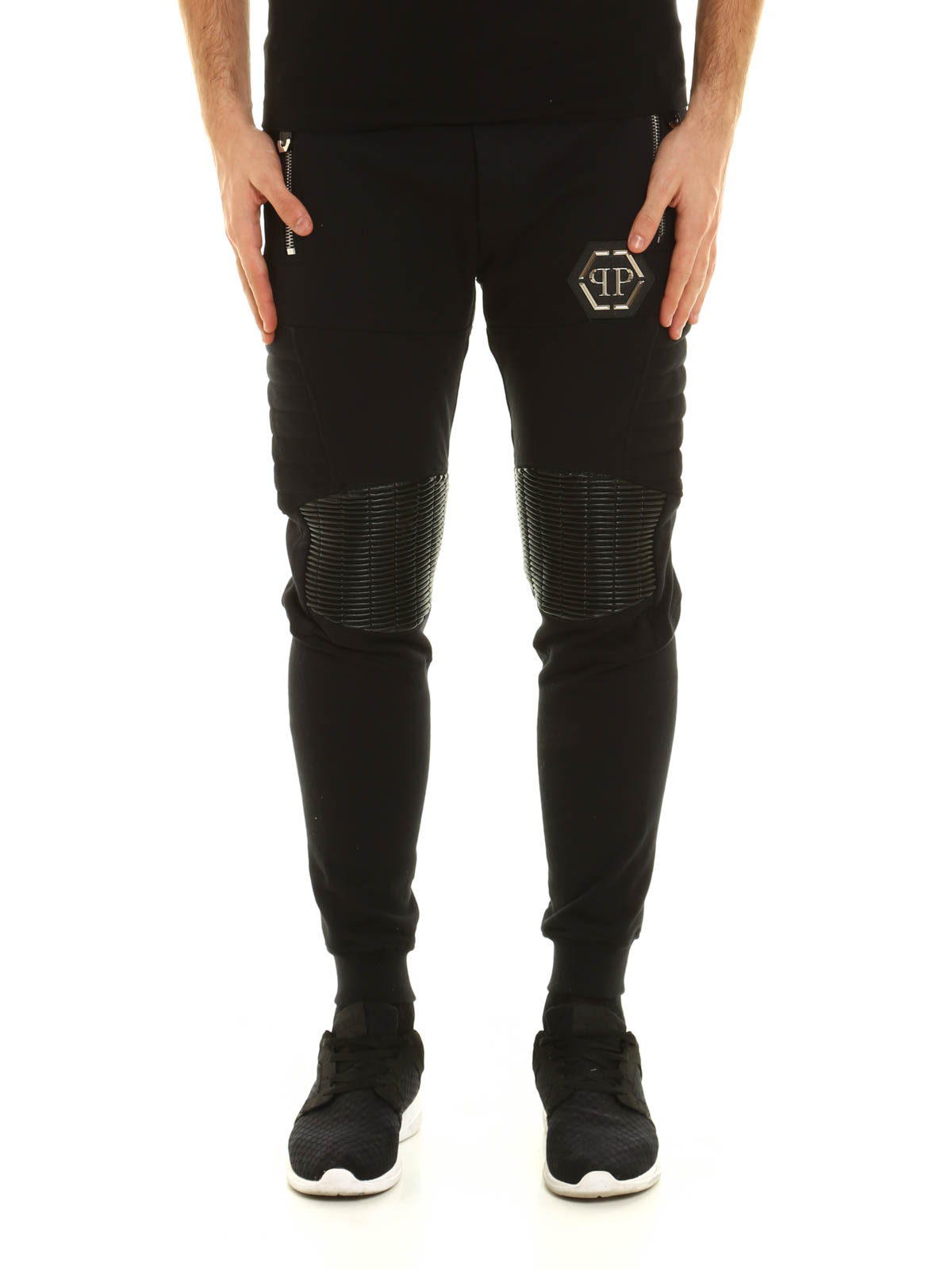 6f3d165c1aa PHILIPP PLEIN: tracksuit bottoms online - Gold card cotton tracksuit bottom