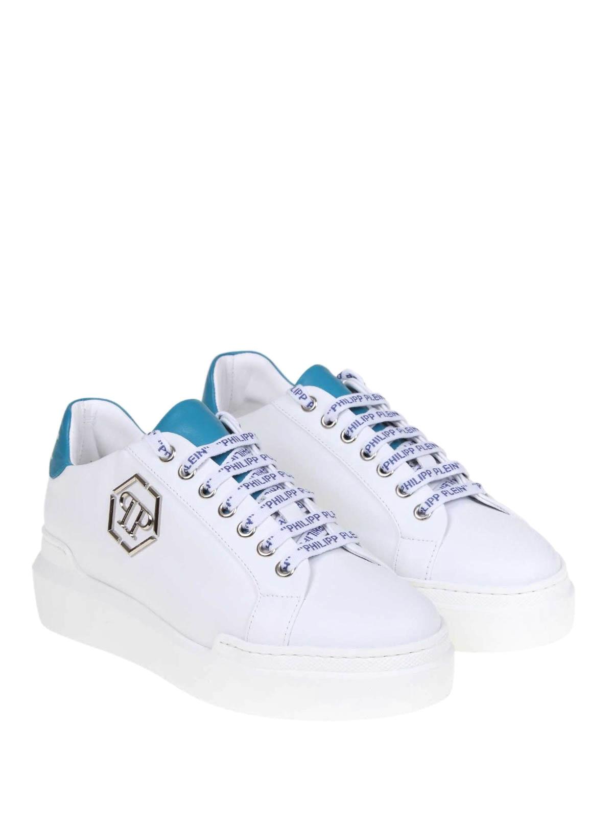 Sneaker Con Sneakers Plein Talloncino Azzurro Philipp In Pelle Tlc3FuK1J