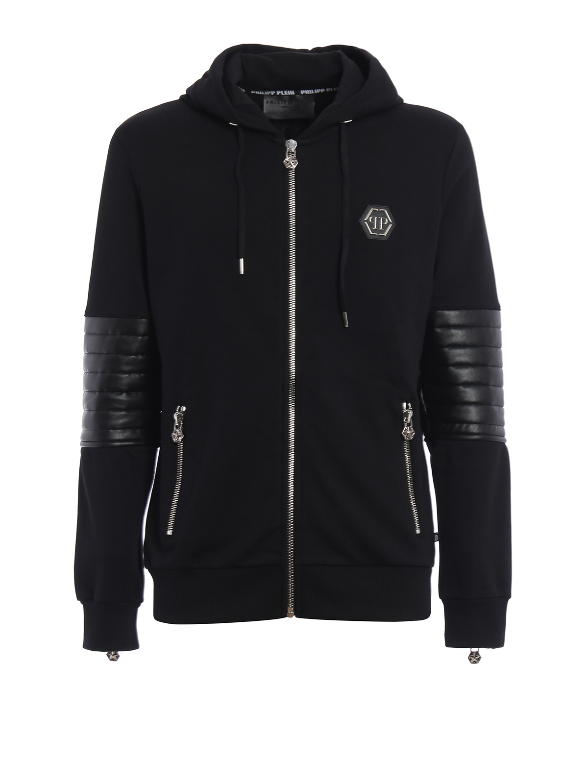 nyorai hooded sweat jacket by philipp plein sweatshirts sweaters shop online at. Black Bedroom Furniture Sets. Home Design Ideas