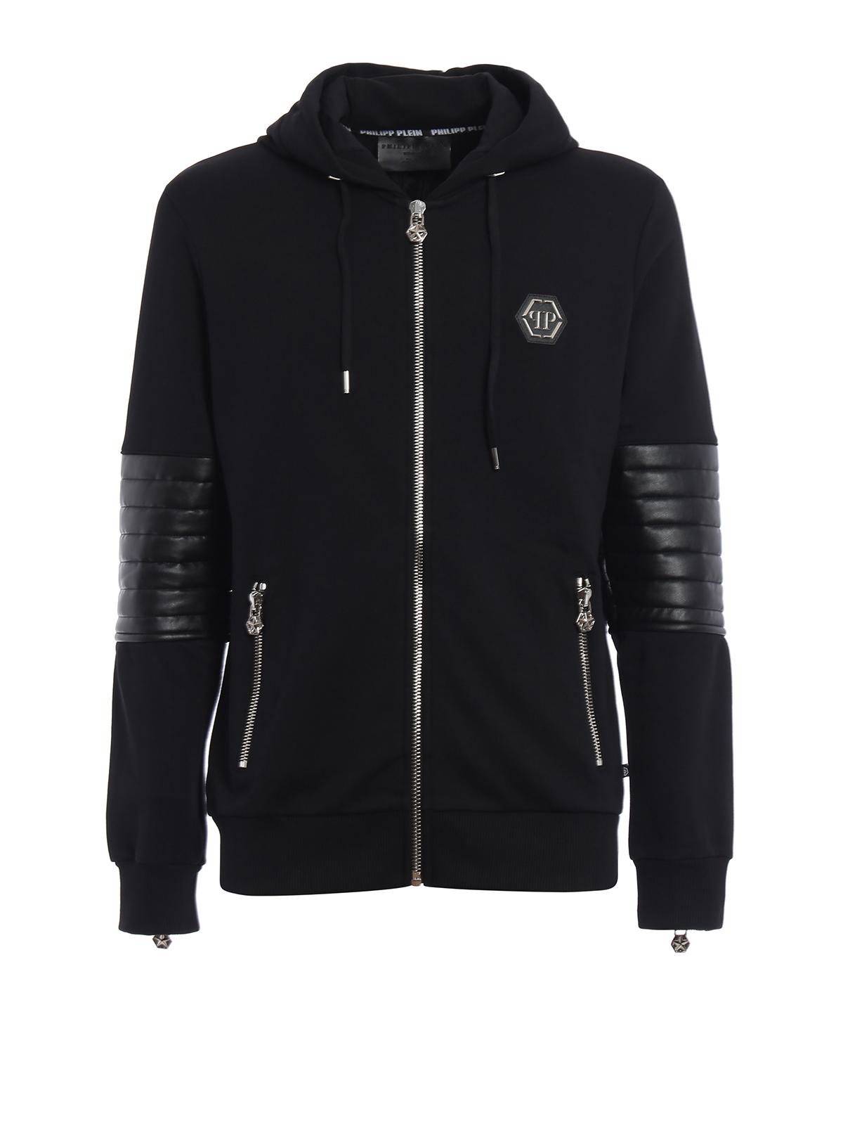 nyorai hooded sweat jacket by philipp plein sweatshirts sweaters shop online at. Black Bedroom Furniture Sets. Home Design Ideas
