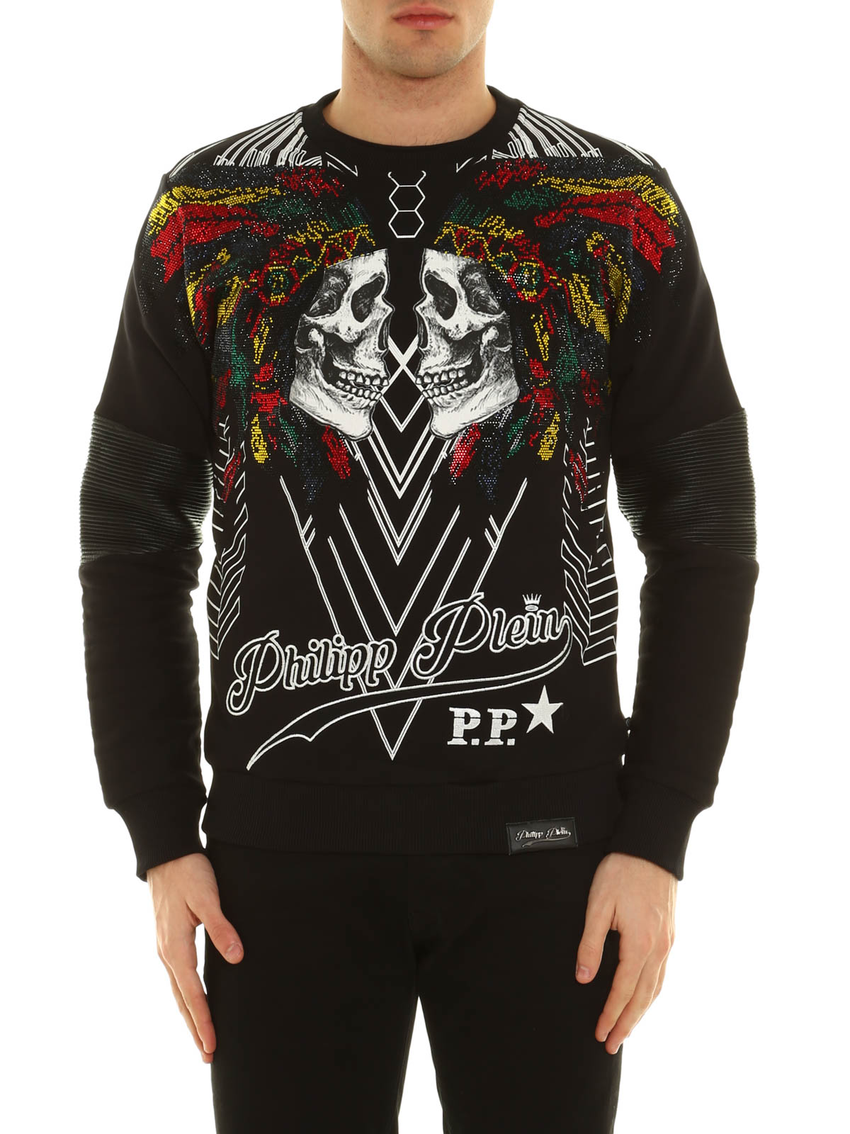 embellished chunta sweatshirt by philipp plein sweatshirts sweaters ikrix. Black Bedroom Furniture Sets. Home Design Ideas