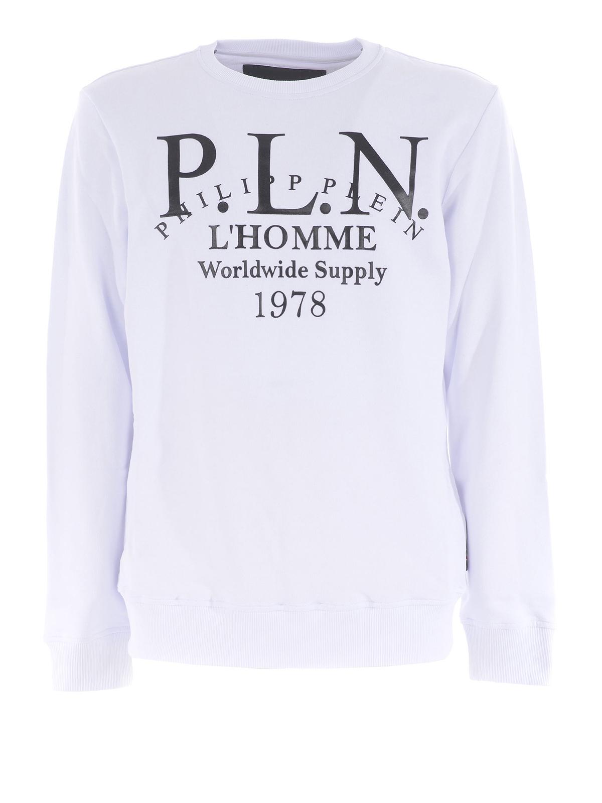 Philipp Plein Sweat Shirts Blanc Sweatshirts & Pulls