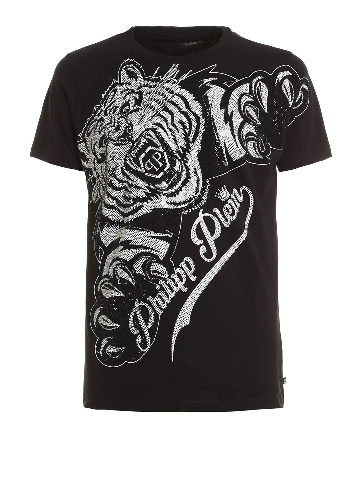 philipp plein claws embellished t shirt t shirts. Black Bedroom Furniture Sets. Home Design Ideas
