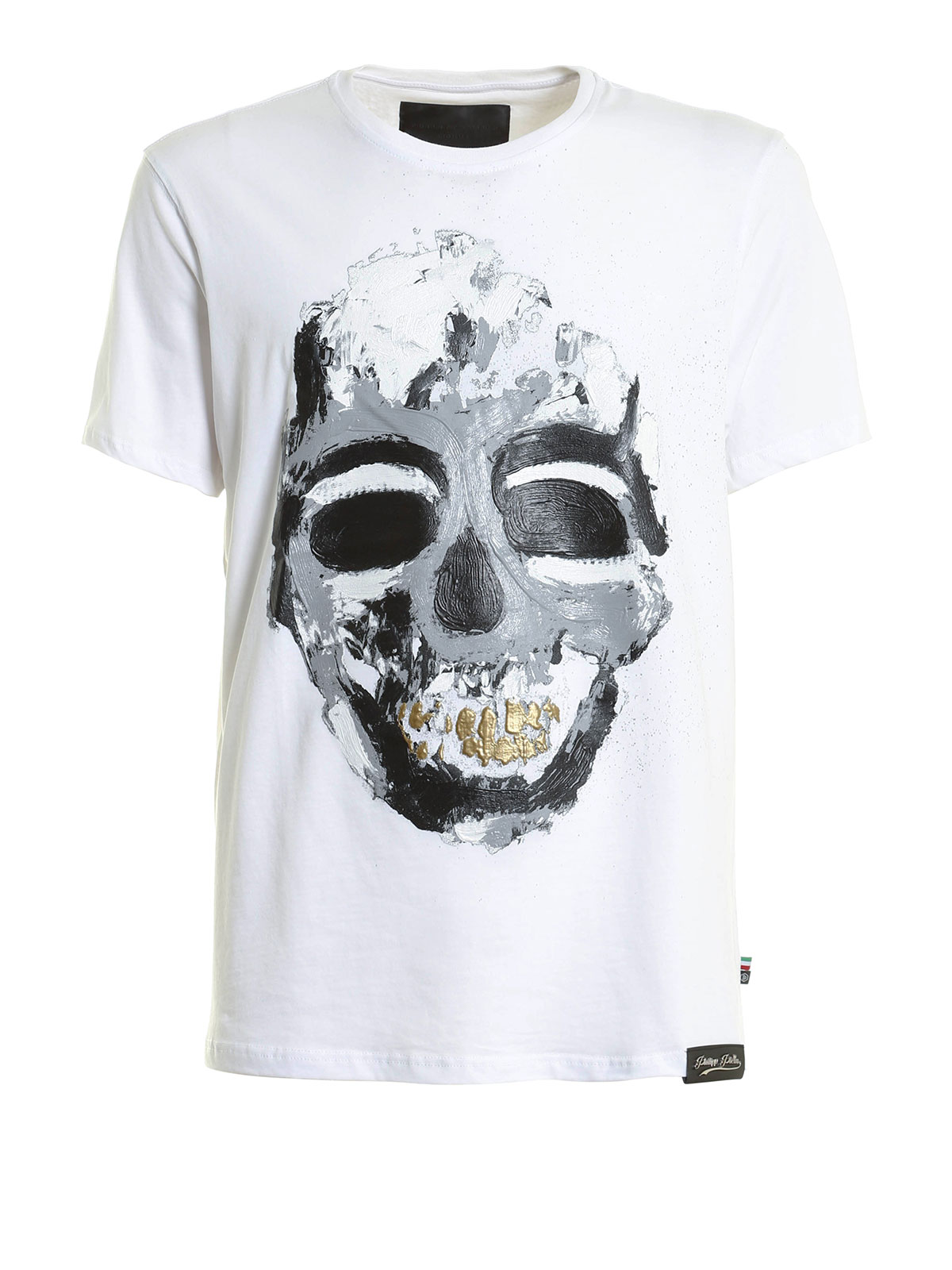 historical skull print t shirt by philipp plein t shirts. Black Bedroom Furniture Sets. Home Design Ideas