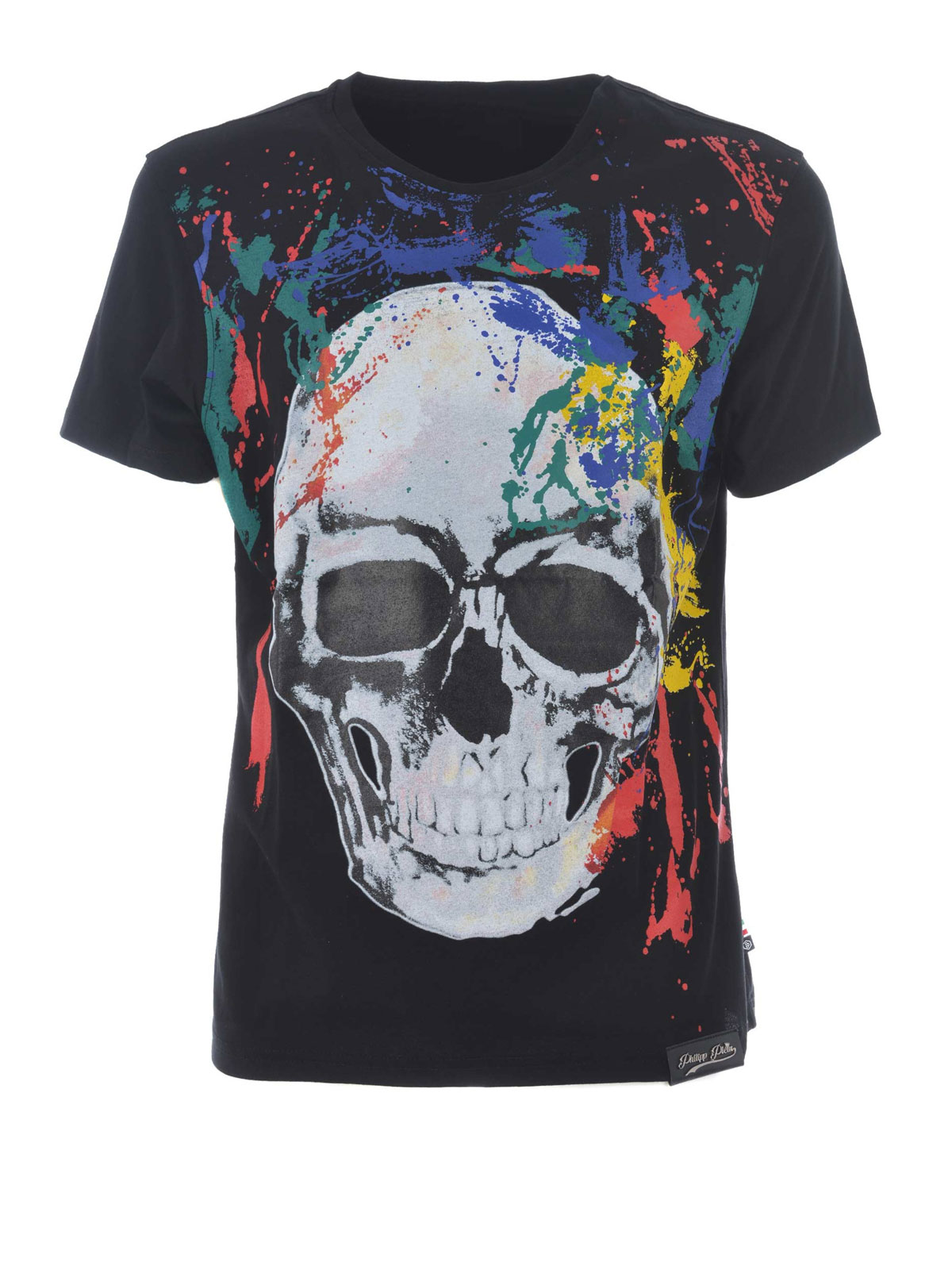 hot skull print t shirt by philipp plein t shirts ikrix. Black Bedroom Furniture Sets. Home Design Ideas