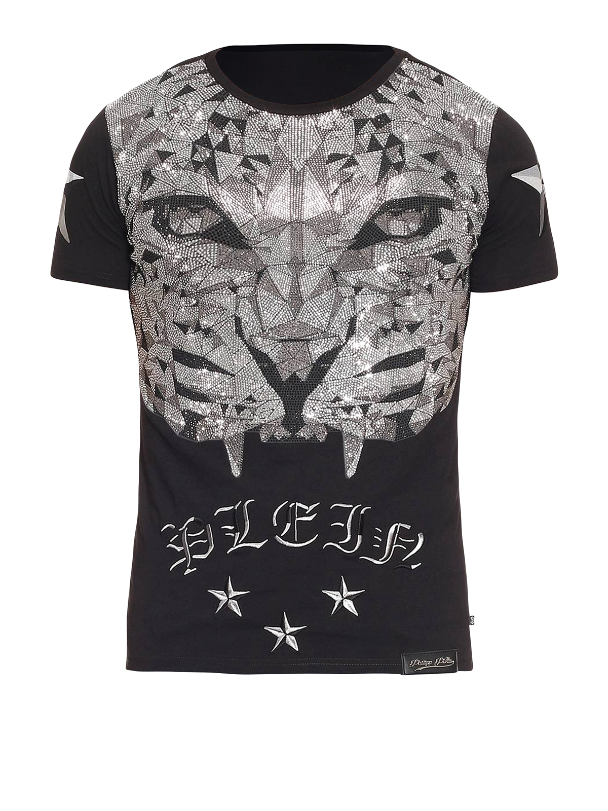 philipp plein t shirt master con stampa tigre t shirt. Black Bedroom Furniture Sets. Home Design Ideas