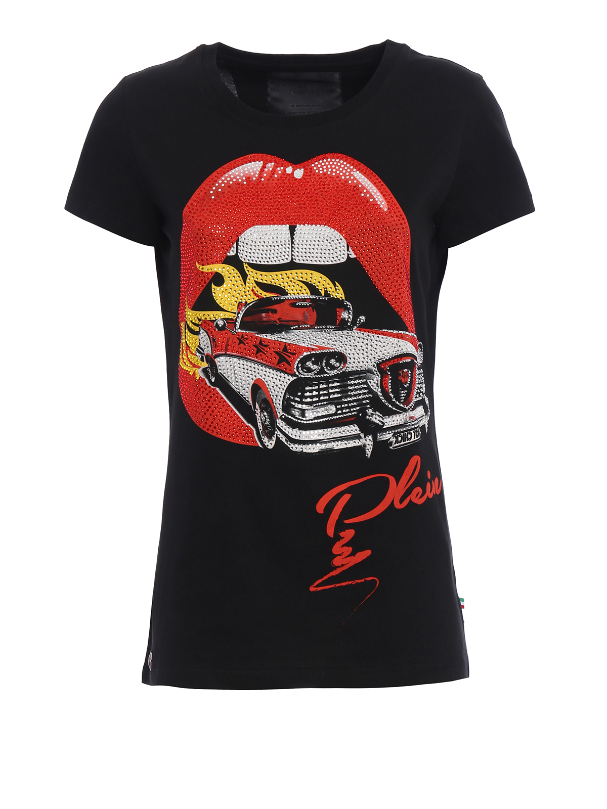 mouth embellished t shirt by philipp plein t shirts ikrix. Black Bedroom Furniture Sets. Home Design Ideas