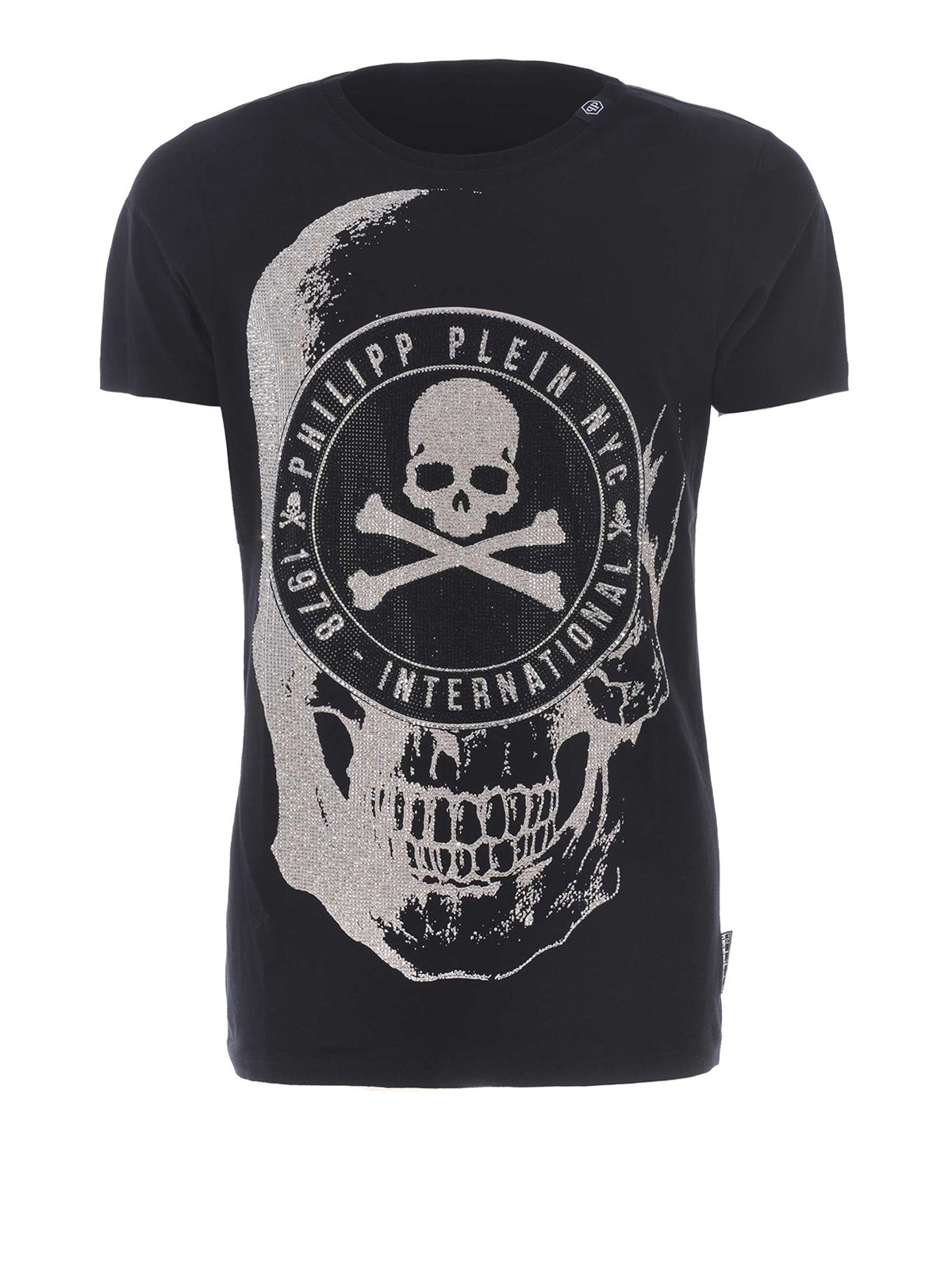 oisio embellished skull t shirt by philipp plein t shirts ikrix. Black Bedroom Furniture Sets. Home Design Ideas
