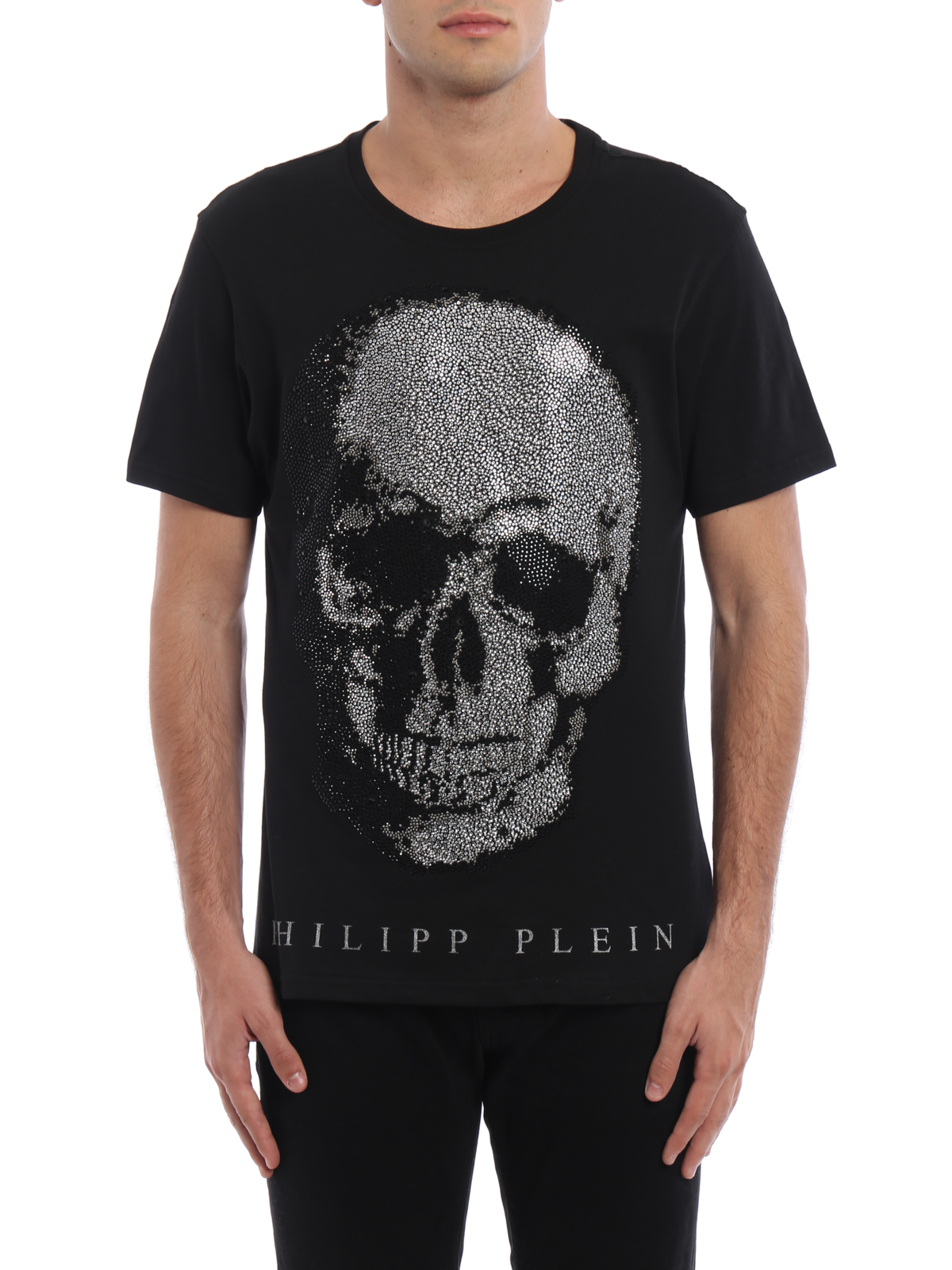kivo embellished skull t shirt by philipp plein t shirts. Black Bedroom Furniture Sets. Home Design Ideas