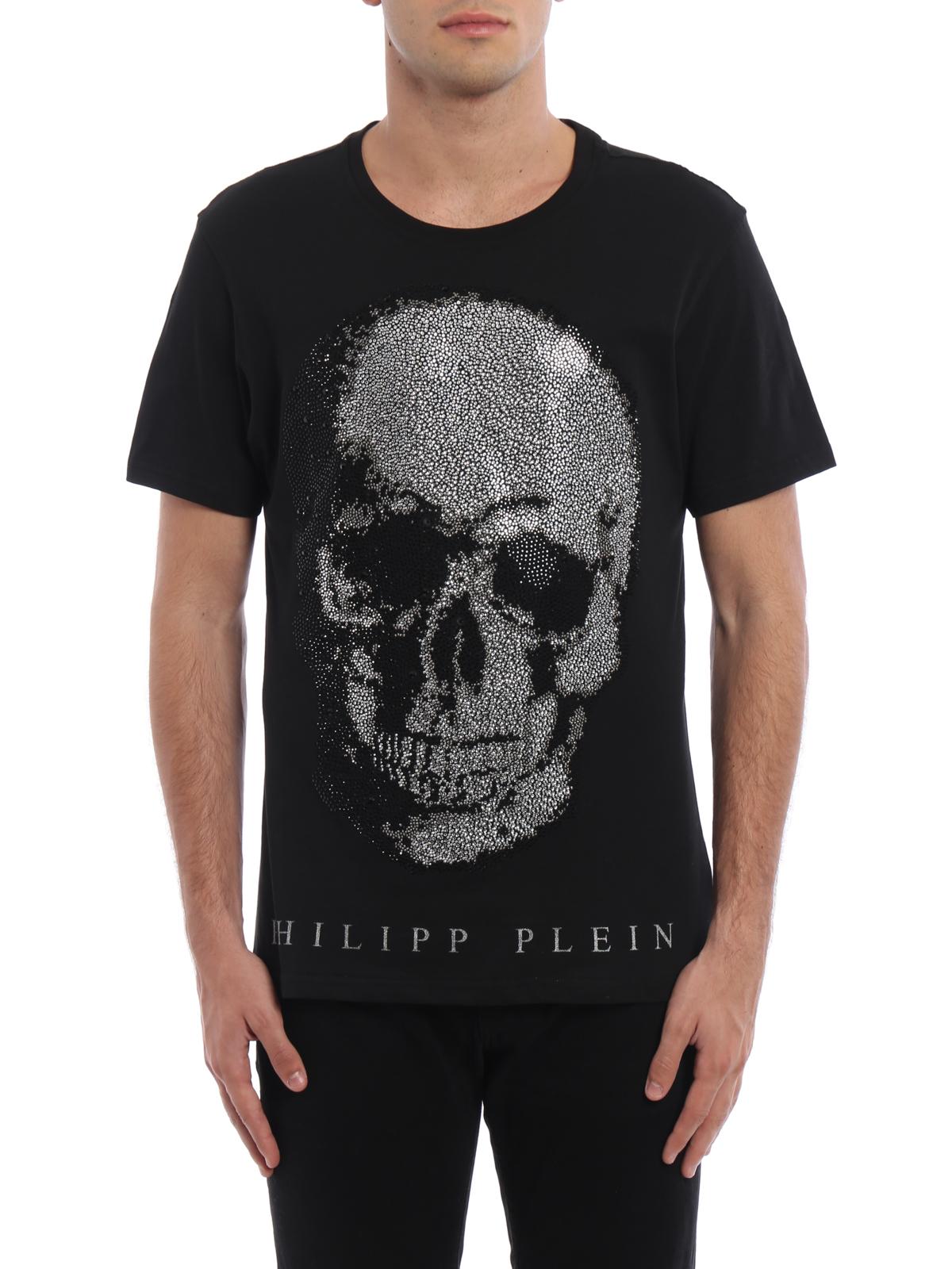 Free Shipping Pre Order Discount Fast Delivery embellished Skull T-shirt - Black Philipp Plein Genuine Cheap Sale Best Best Deals 8P2LR7RJ