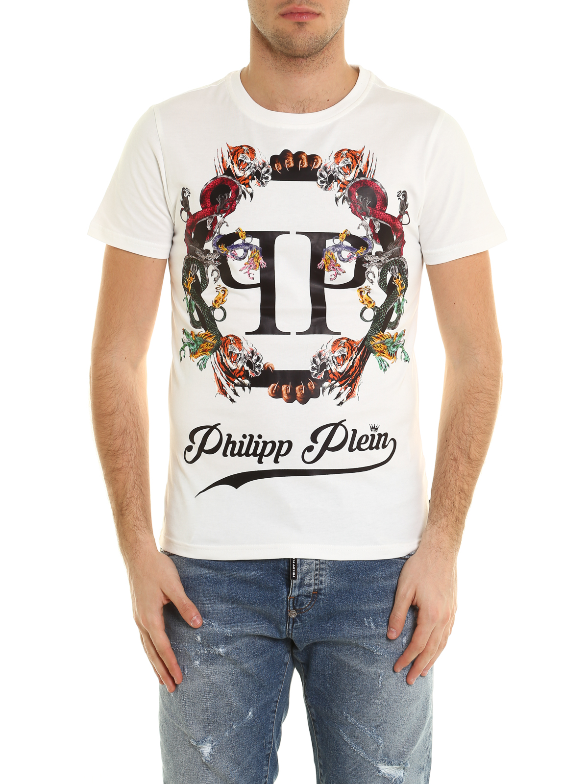 plein 39 s animals cotton tee by philipp plein t shirts ikrix. Black Bedroom Furniture Sets. Home Design Ideas