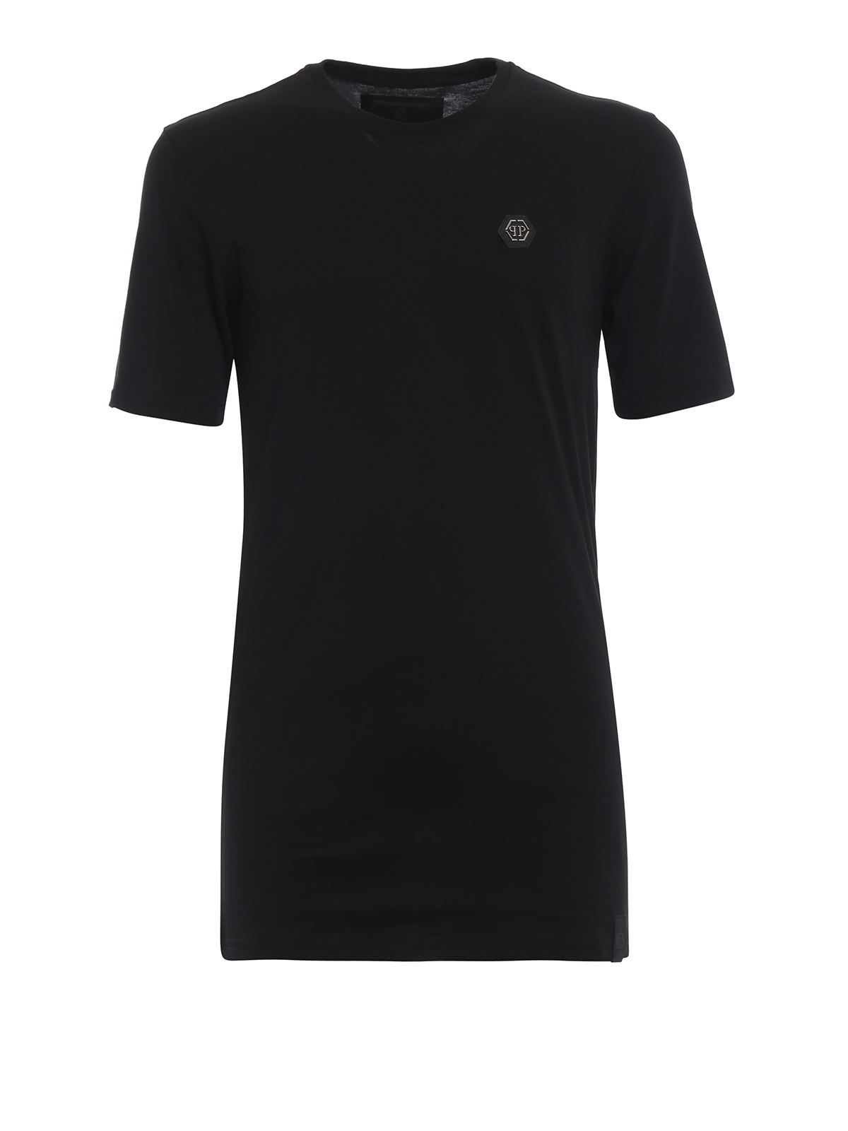 Philipp Plein - Original Black Cut solid black Tee - t-shirts ... 4420e3f4b30f